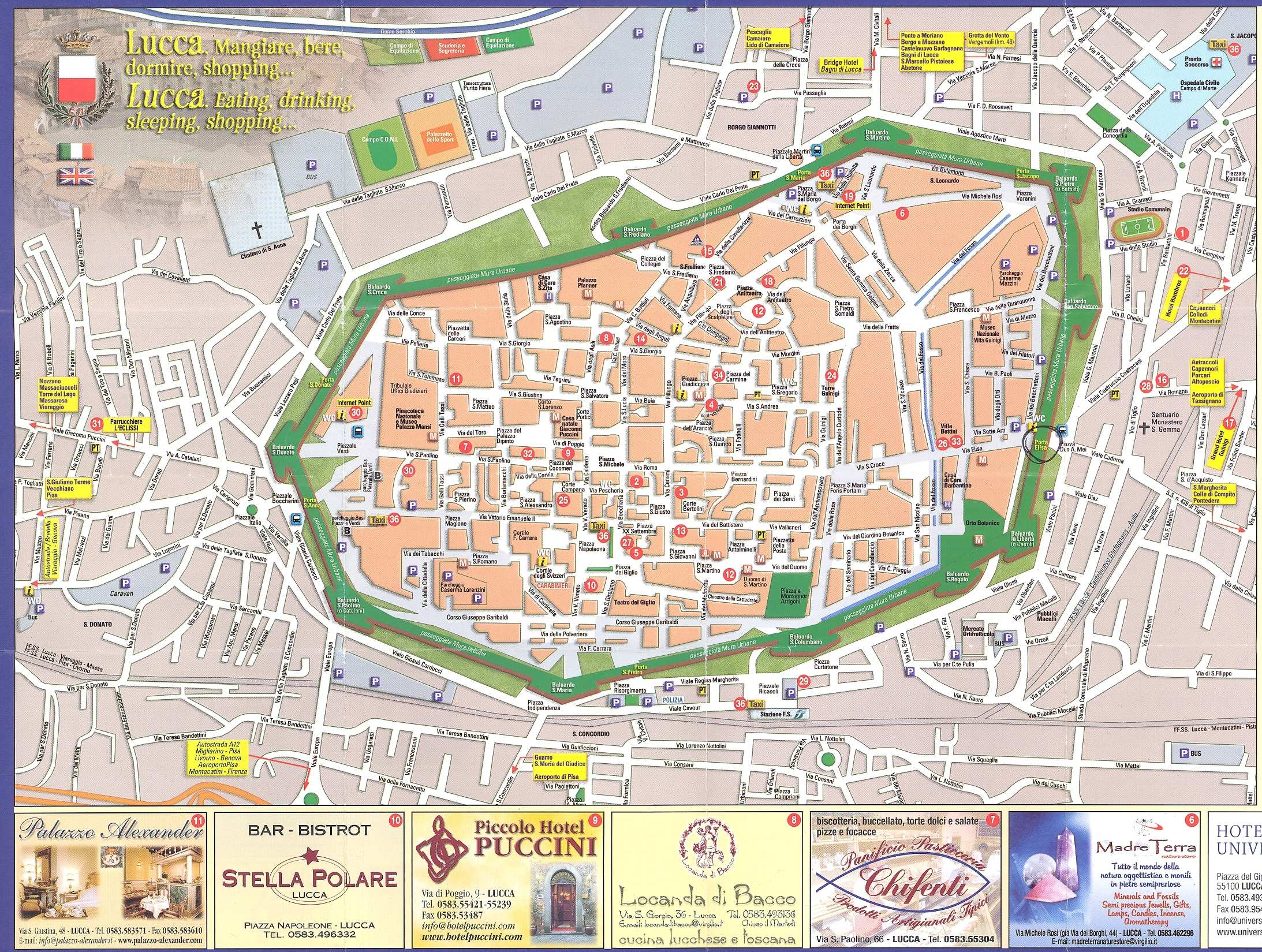 Large Lucca Maps for Free Download and Print HighResolution and