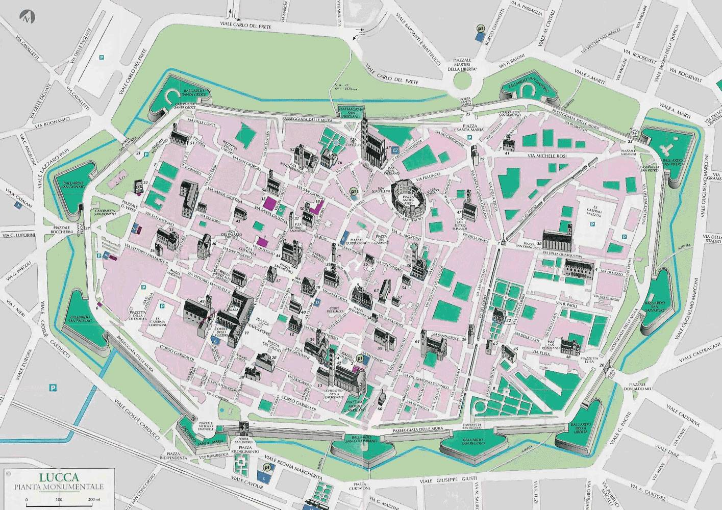 Cartina Italia Lucca.Large Lucca Maps For Free Download And Print High Resolution And Detailed Maps
