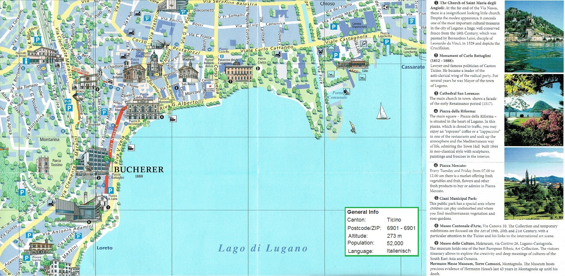Large Lugano Maps for Free Download and Print HighResolution and