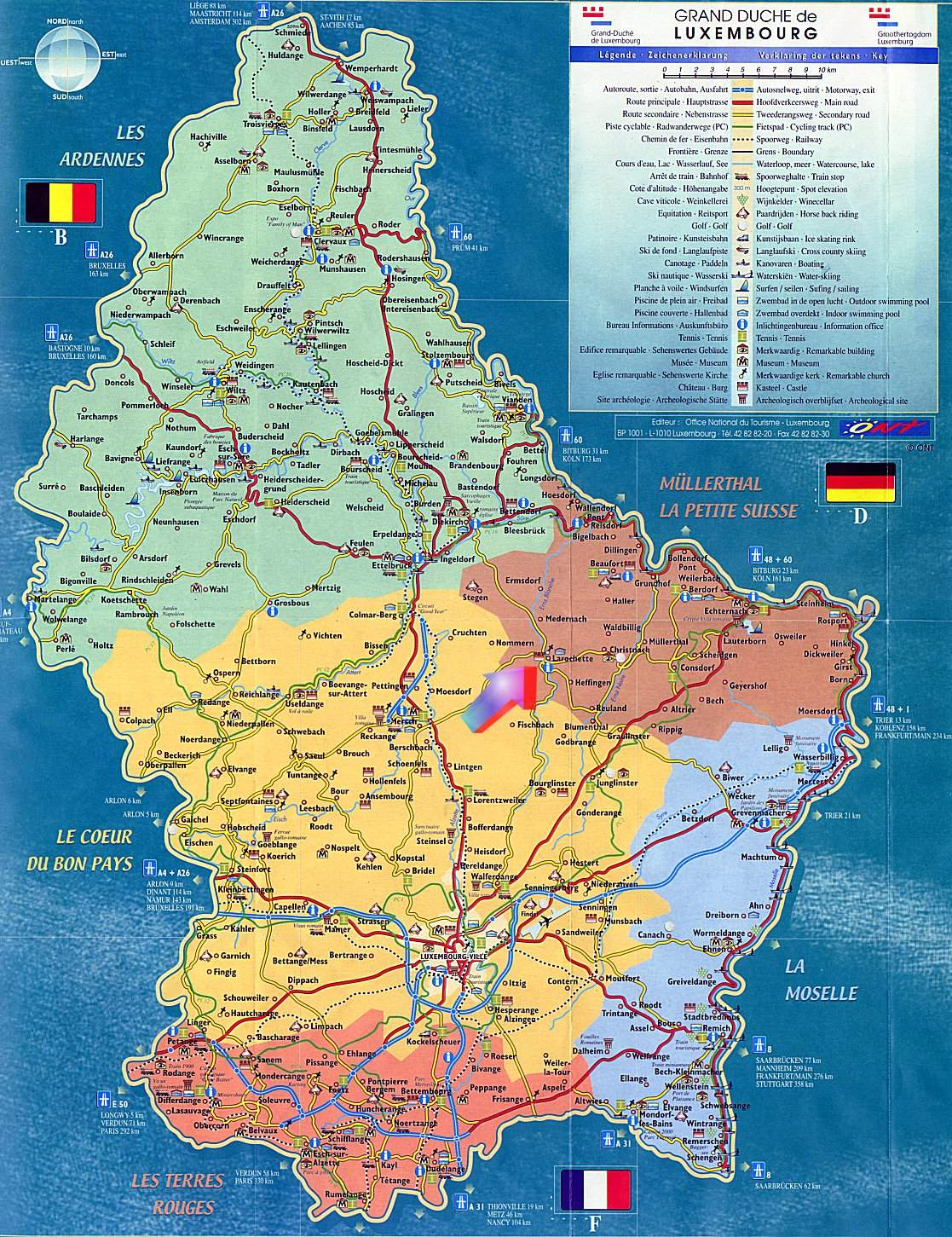 Large Luxembourg Maps for Free Download and Print | High-Resolution ...