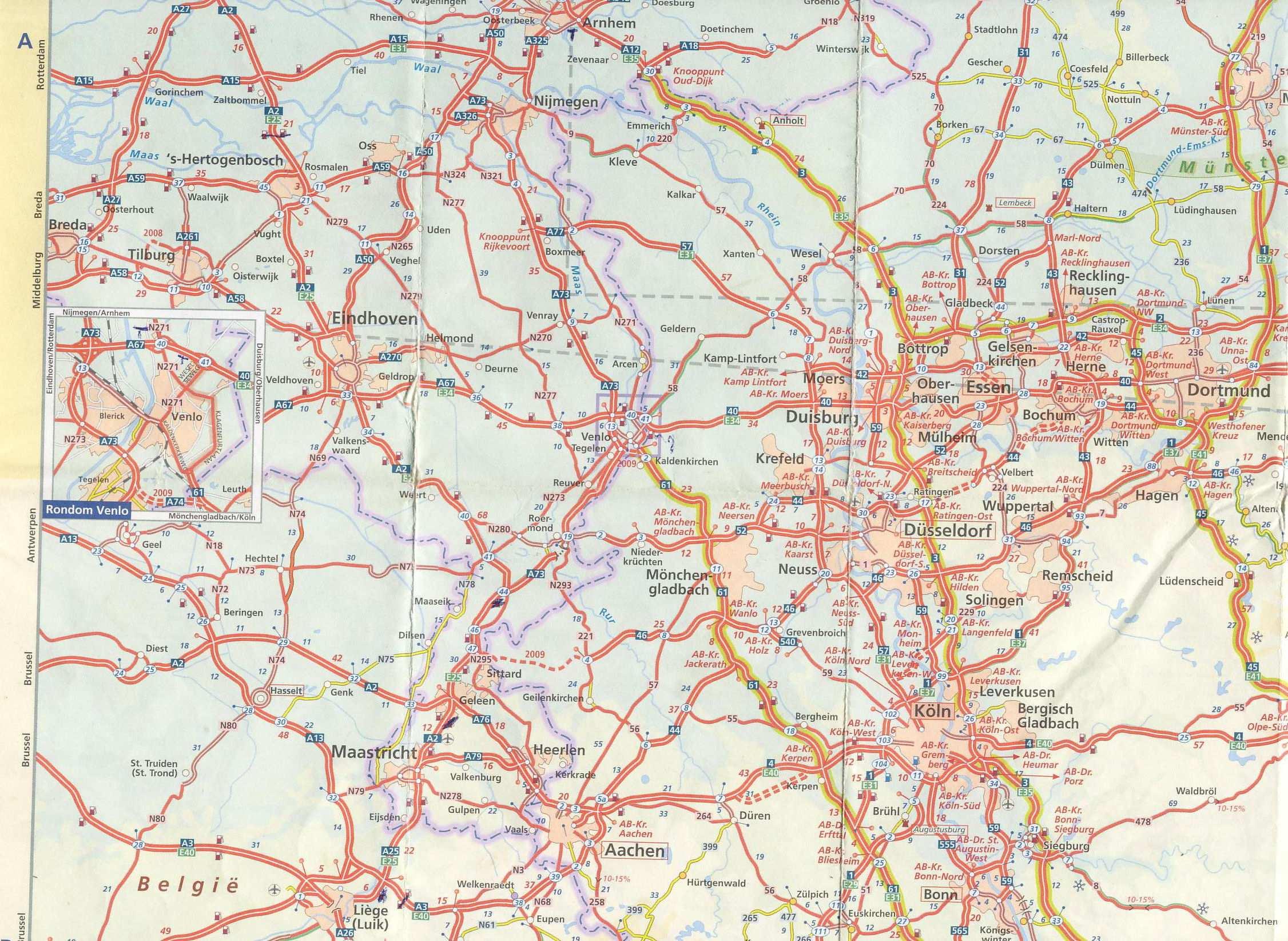 Stadtplan Von Maastricht Detaillierte Gedruckte Karten