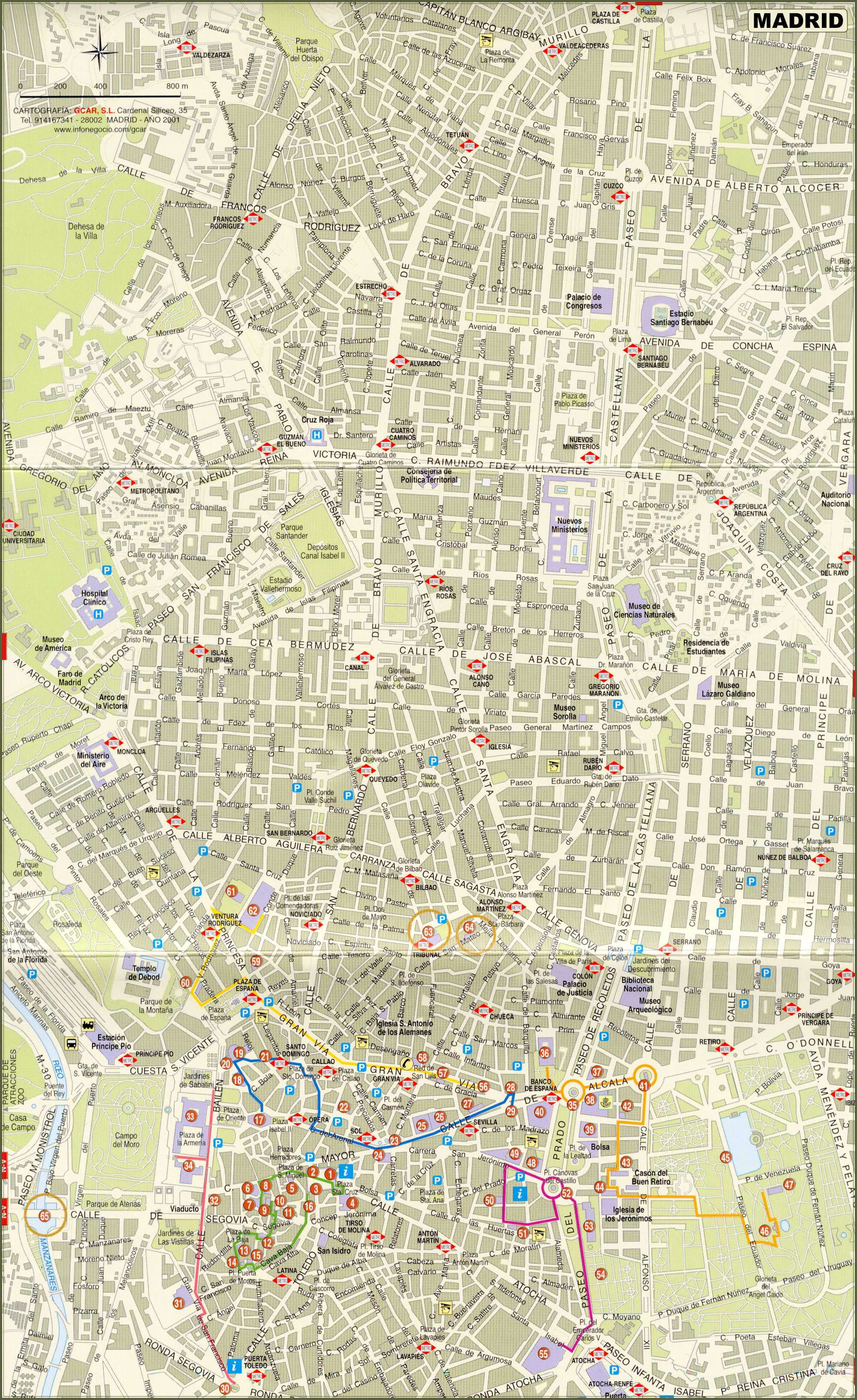 Large Madrid Maps for Free Download and Print HighResolution and