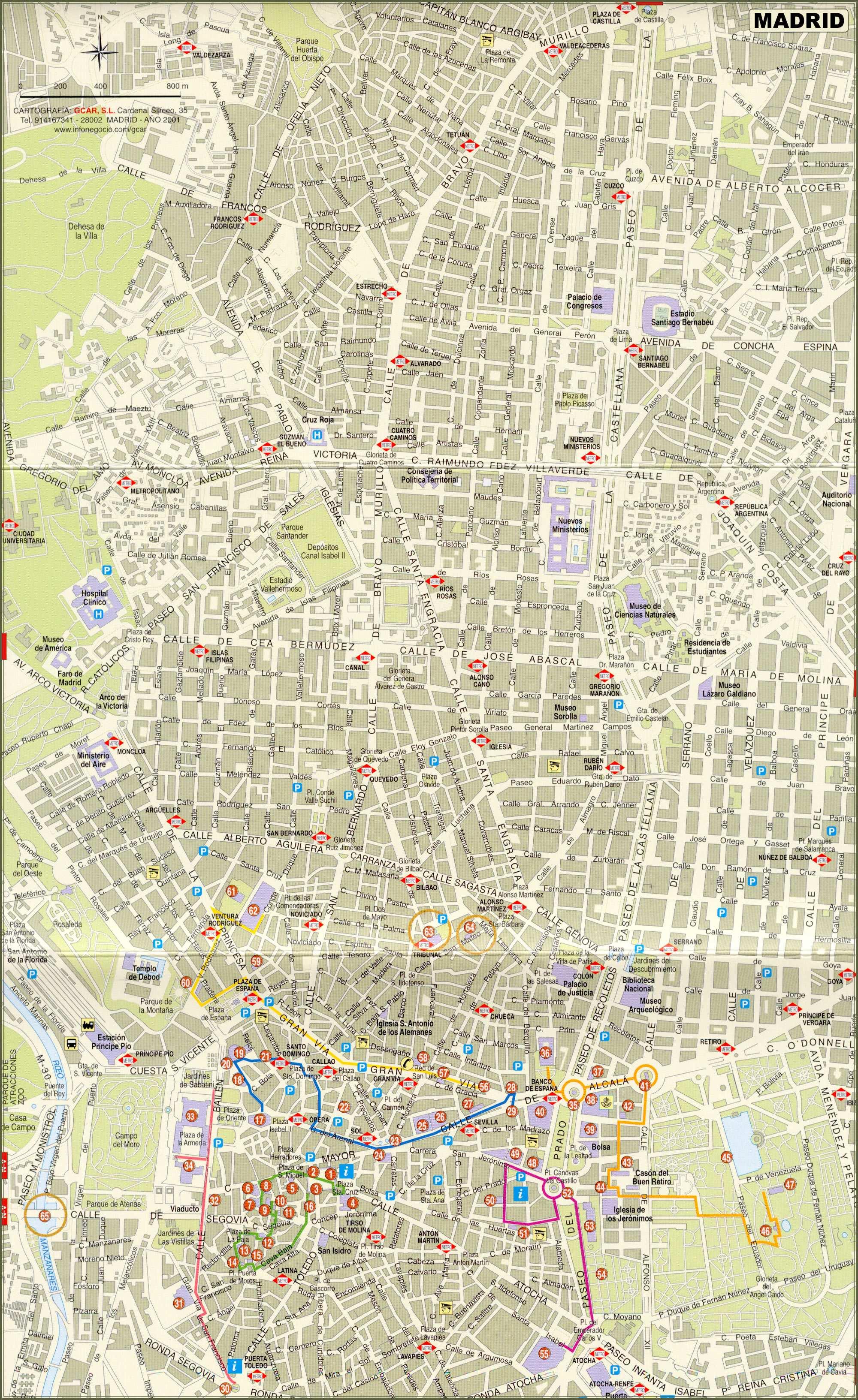 Cartes De Madrid Cartes Typographiques Detaillees De Madrid Espagne De Haute Qualite