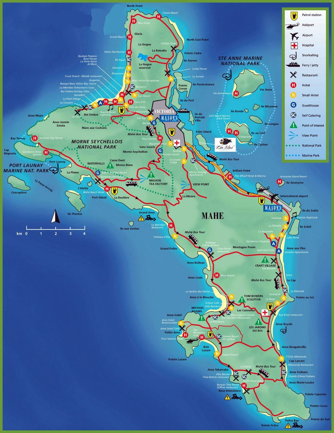 Image result for mahe island map