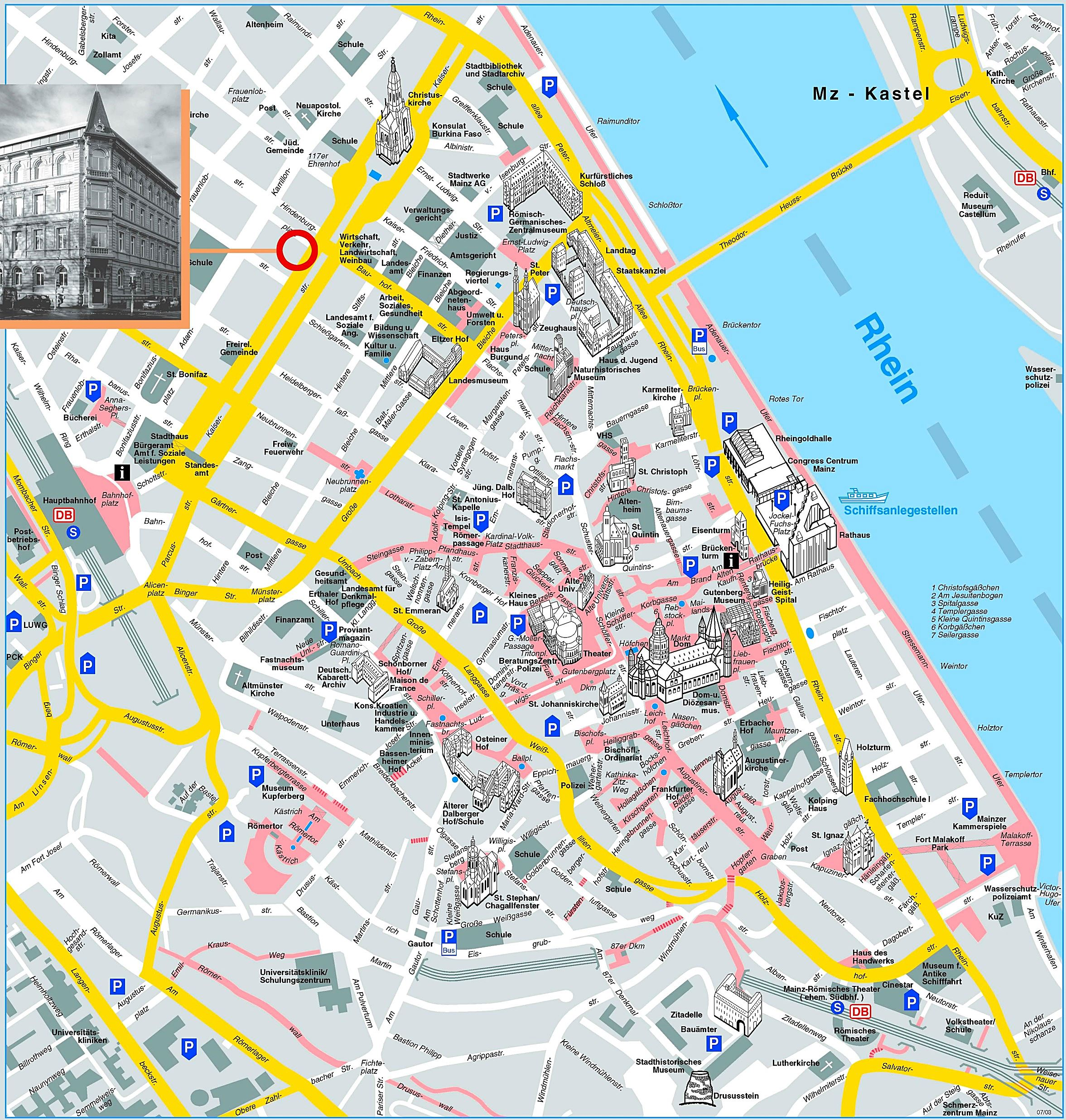 Large Mainz Maps for Free Download and Print HighResolution and