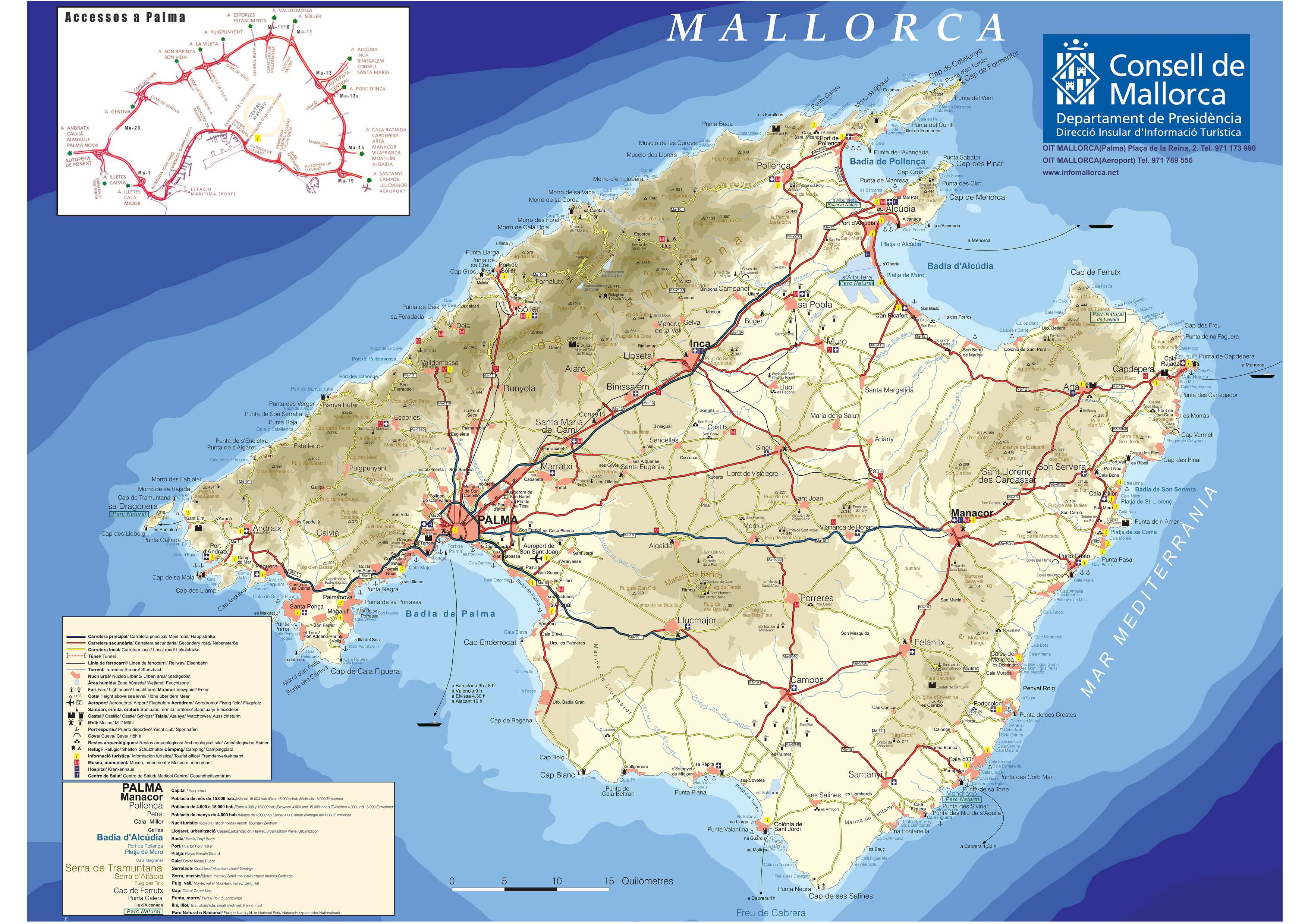 Large Mallorca Maps for Free Download and Print HighResolution