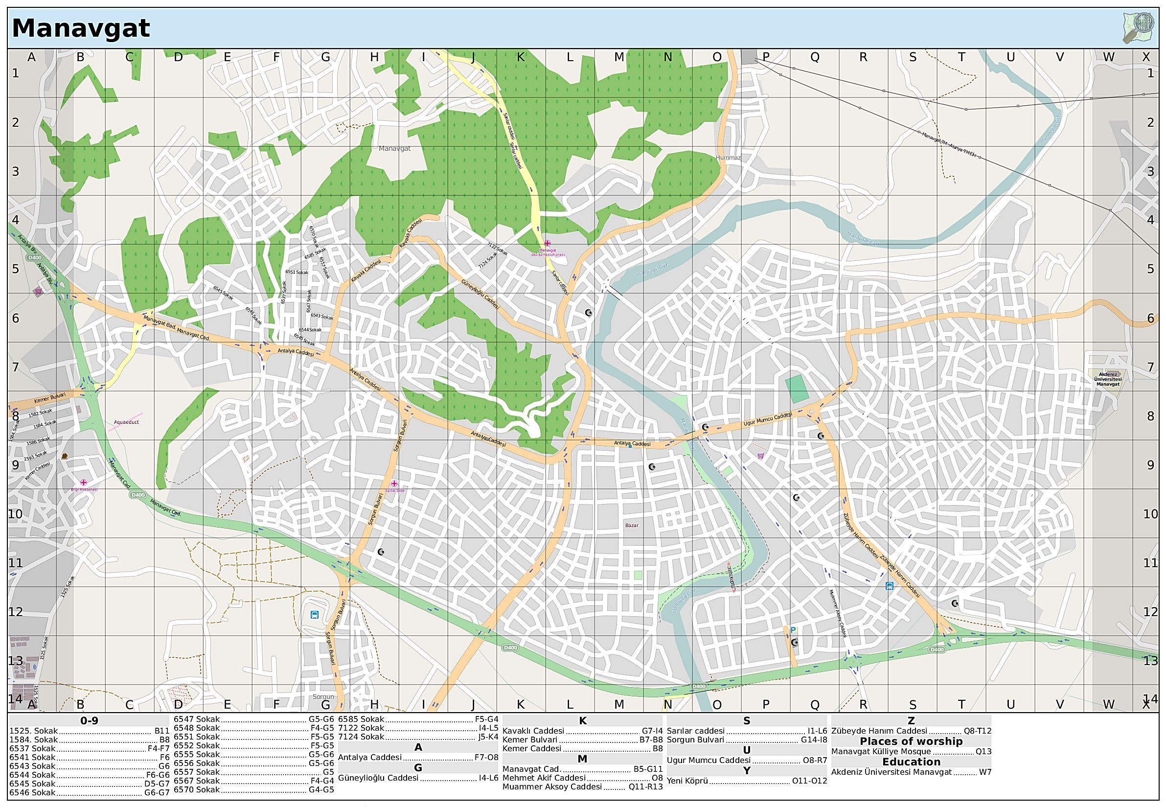 Large Manavgat Maps for Free Download and Print HighResolution