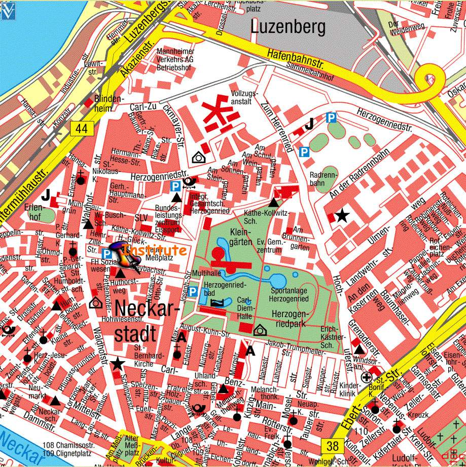 Large Mannheim Maps for Free Download and Print HighResolution