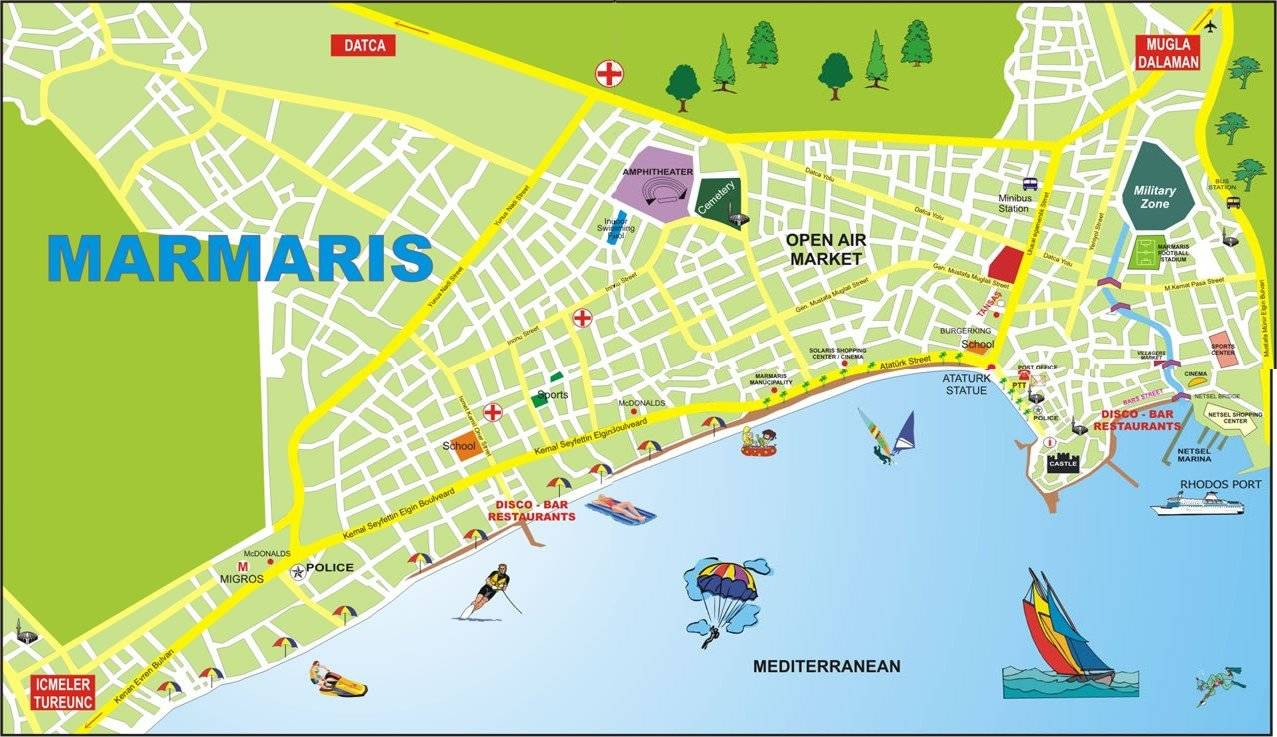 Large Marmaris Maps for Free Download and Print HighResolution