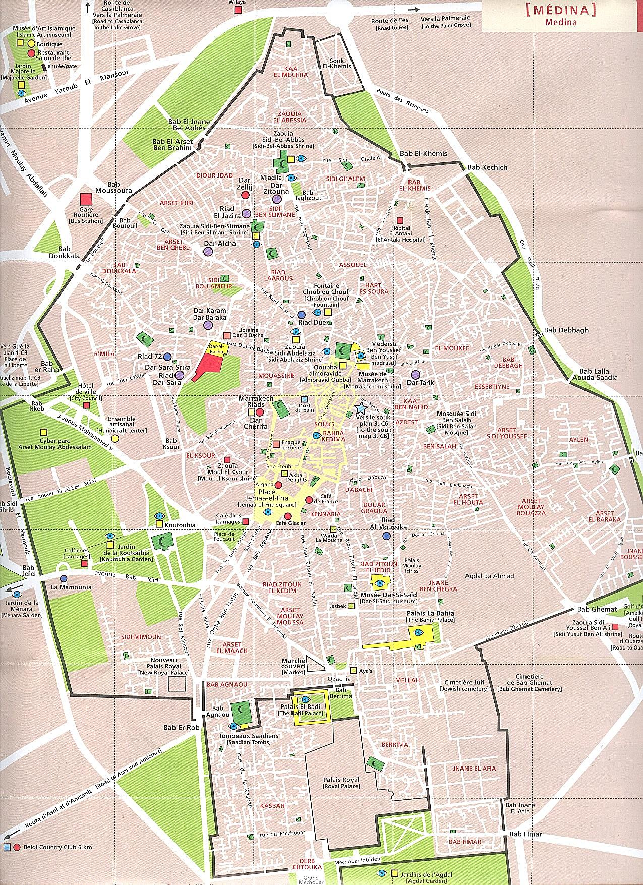 Map Of Marrakech Large Marrakech Maps for Free Download and Print | High Resolution