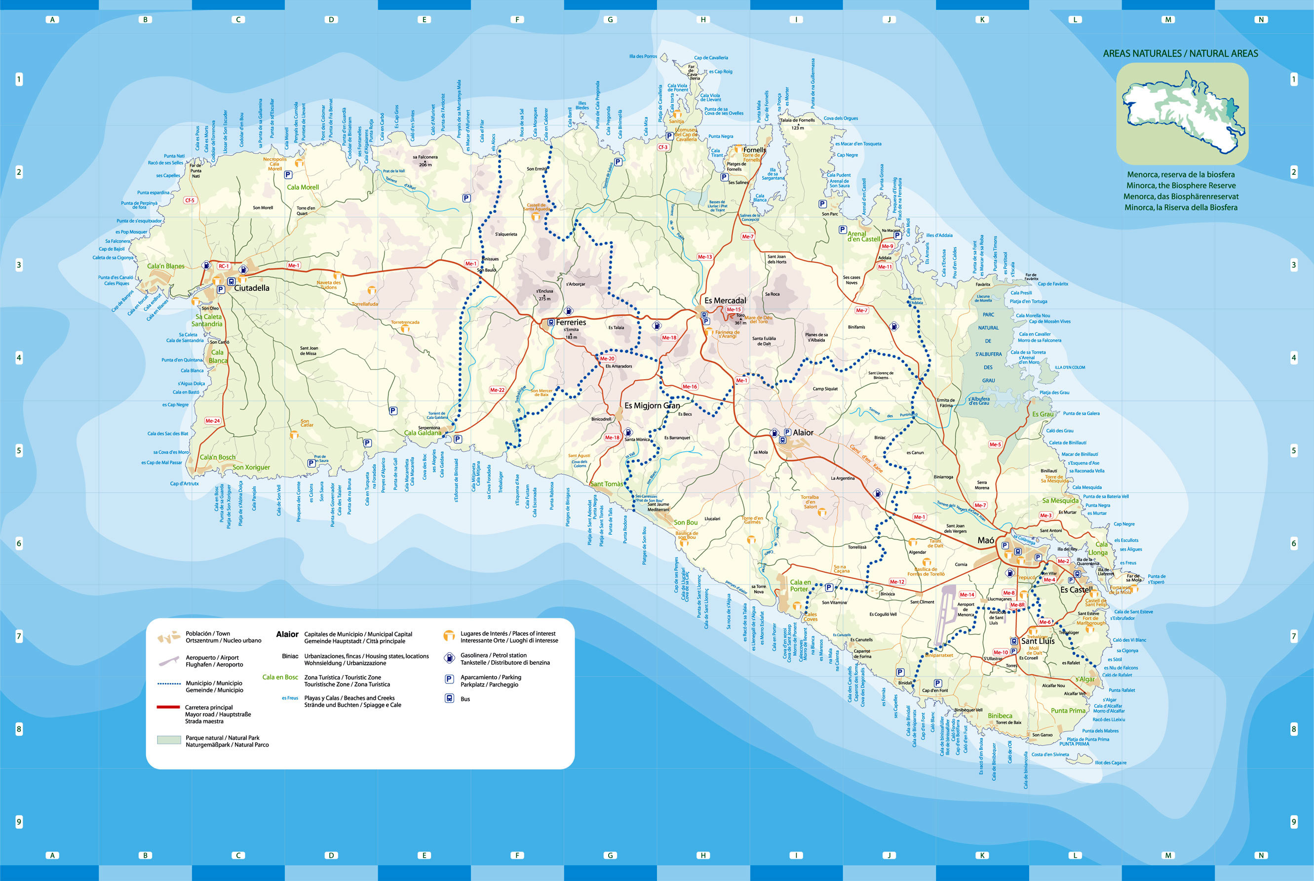 Large Menorca Maps for Free Download and Print | High-Resolution and ...