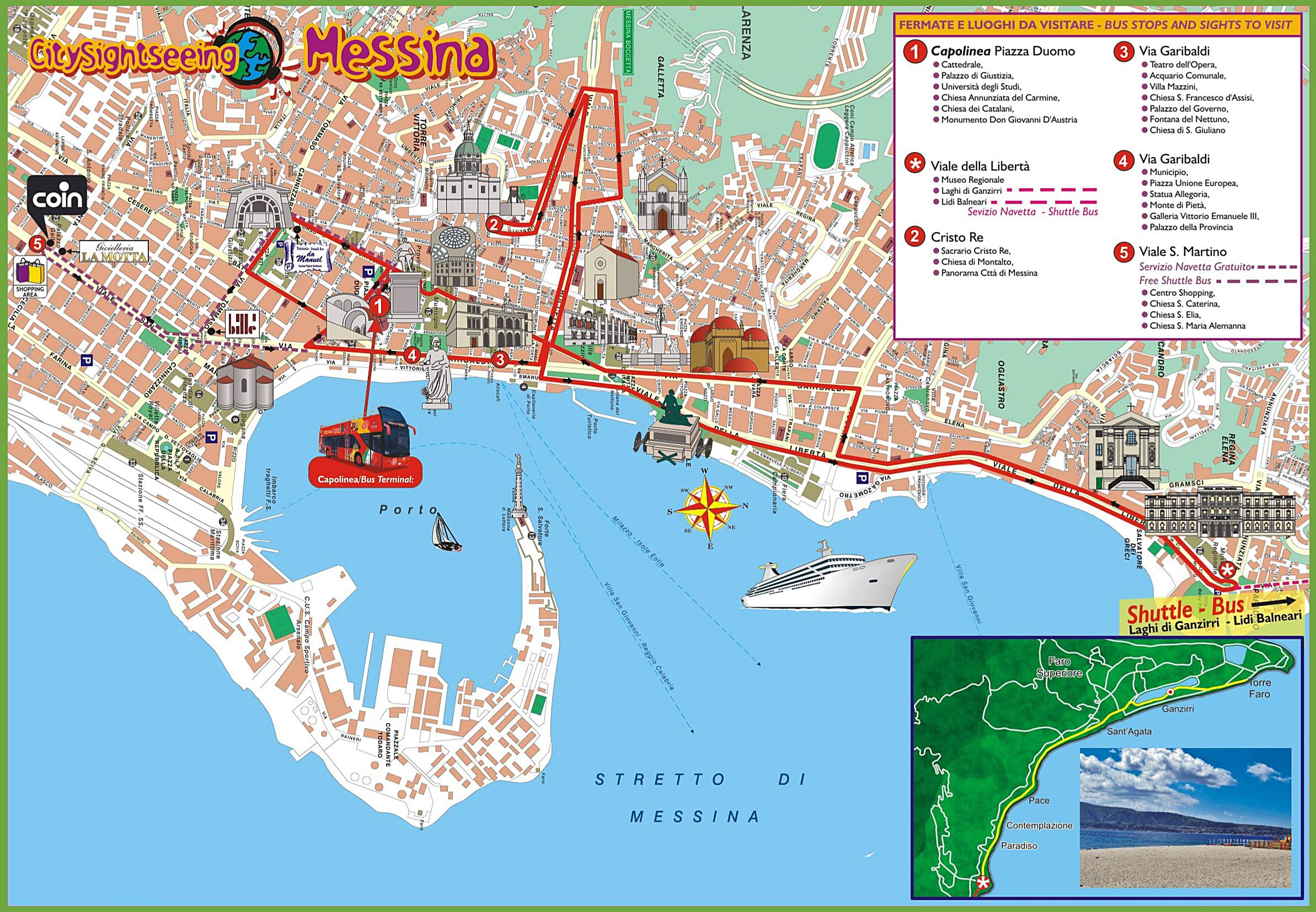 Large Messina Maps for Free Download and Print HighResolution and