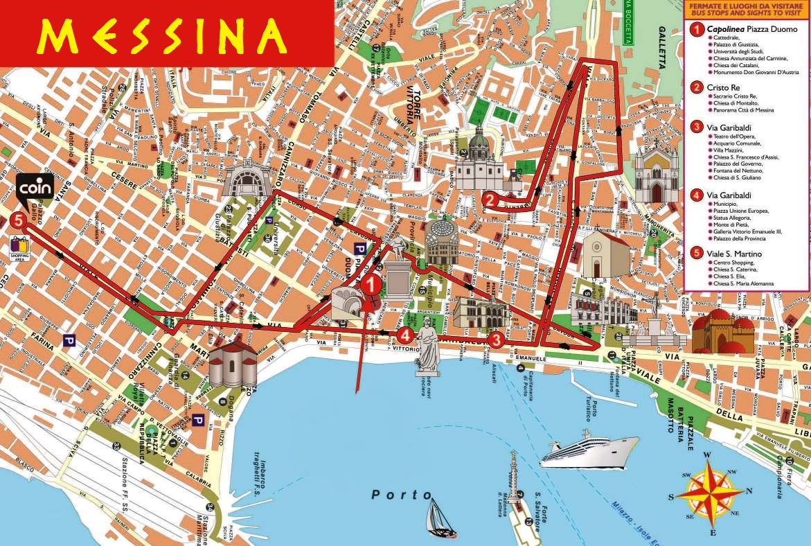 City Map Of Italy In English.Large Messina Maps For Free Download And Print High Resolution And