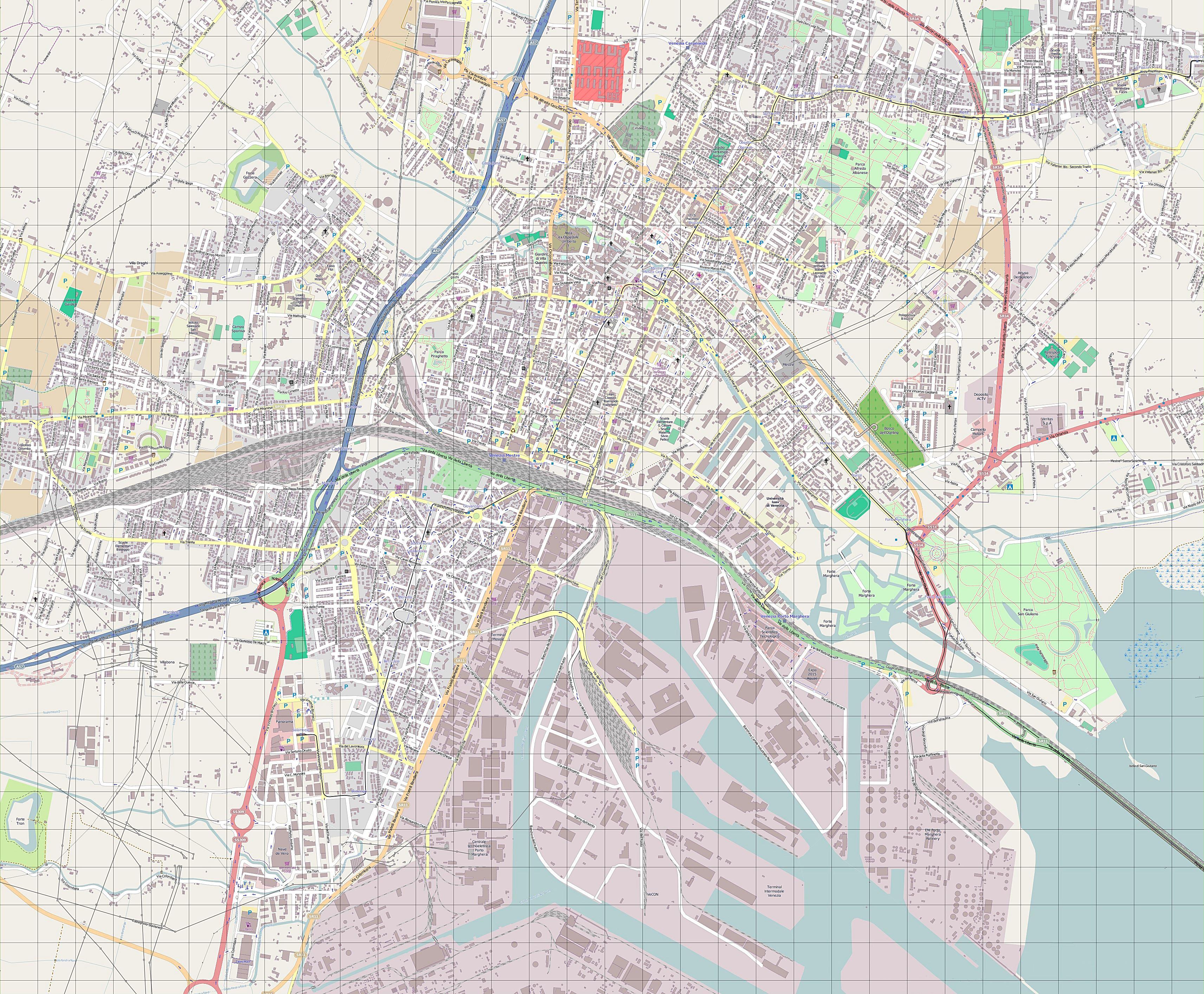 Lucca Italien um 1900 historische alte Landkarte Stadtplan map