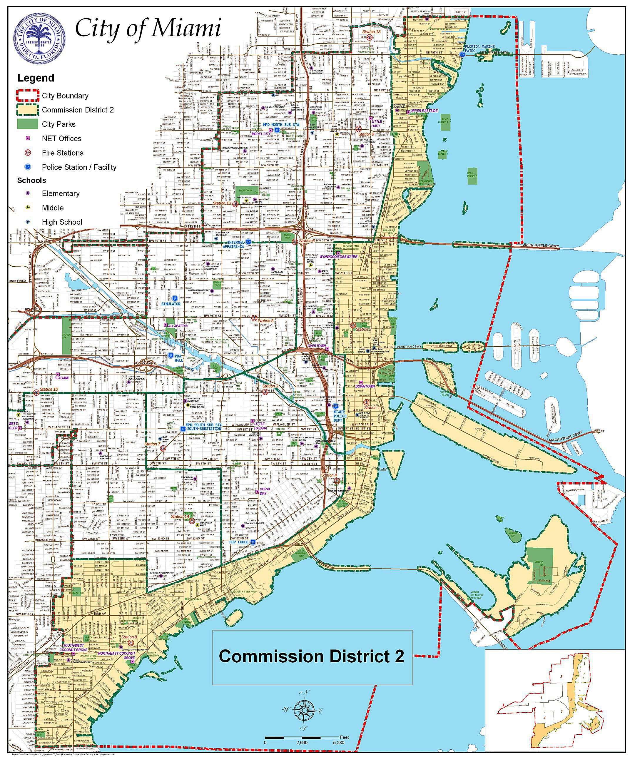 Large Miami Maps for Free Download and Print | High Resolution and