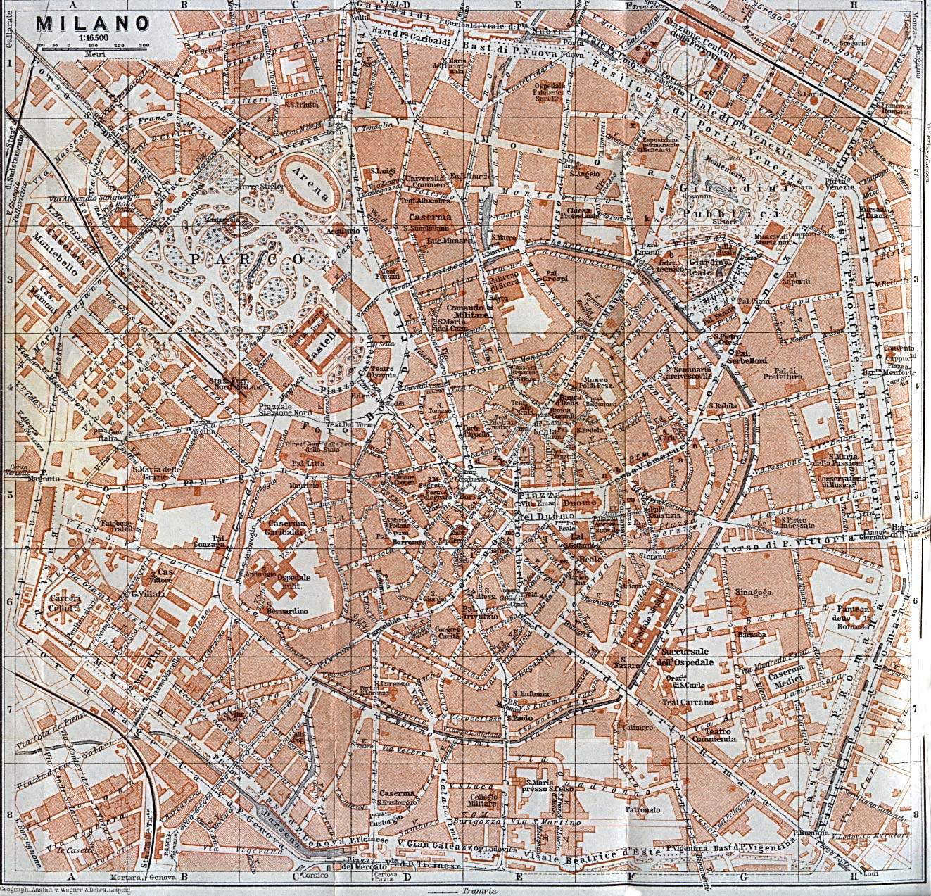 Large Milan Maps for Free Download – Milan Tourist Attractions Map