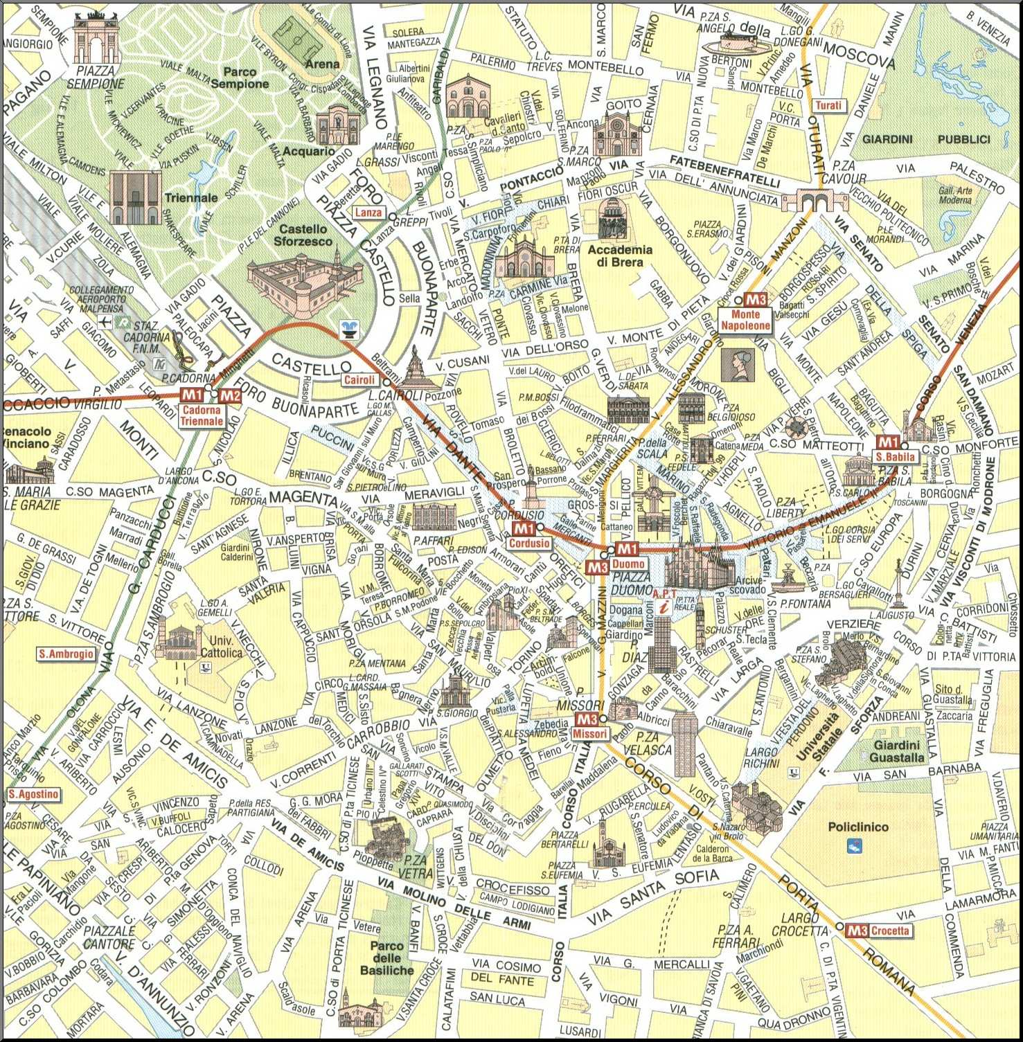 karta milano Large Milan Maps for Free Download and Print | High Resolution and  karta milano