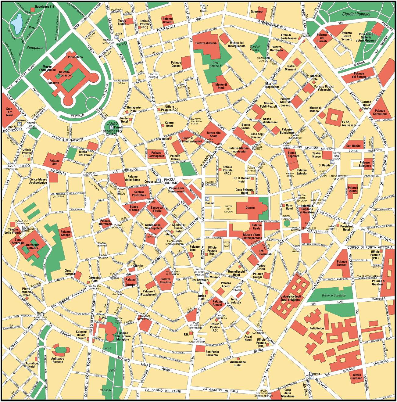 Large Milan Maps for Free Download and Print HighResolution and