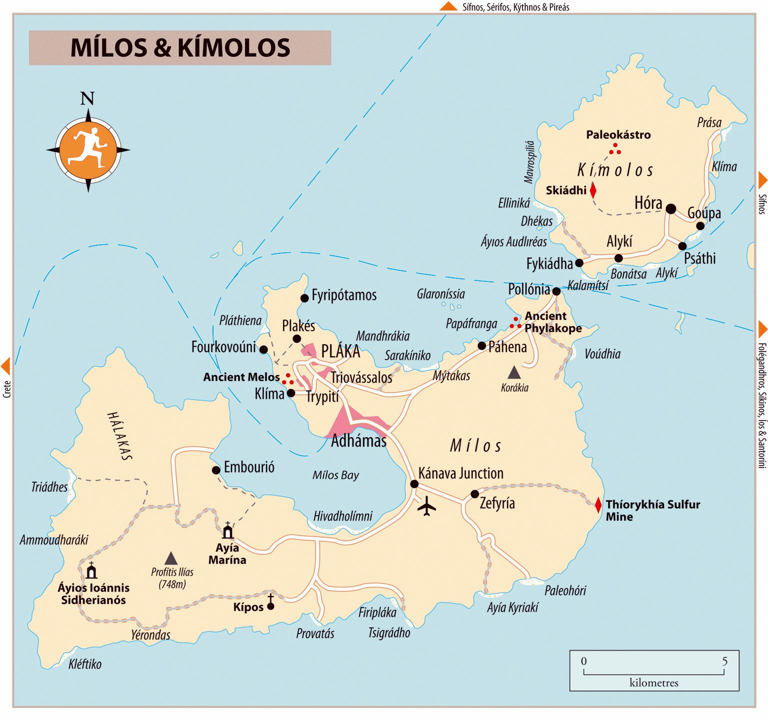 Large Milos Island Maps for Free Download and Print High