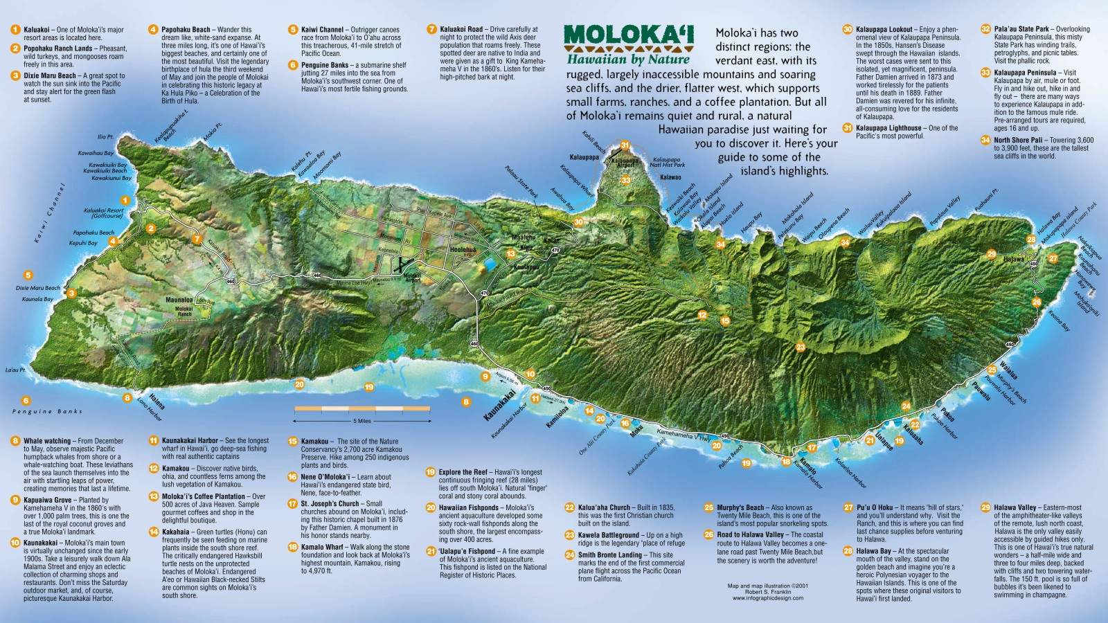 picture relating to Printable Map of Hawaiian Islands called Massive Molokai Maps for Free of charge Down load and Print Substantial