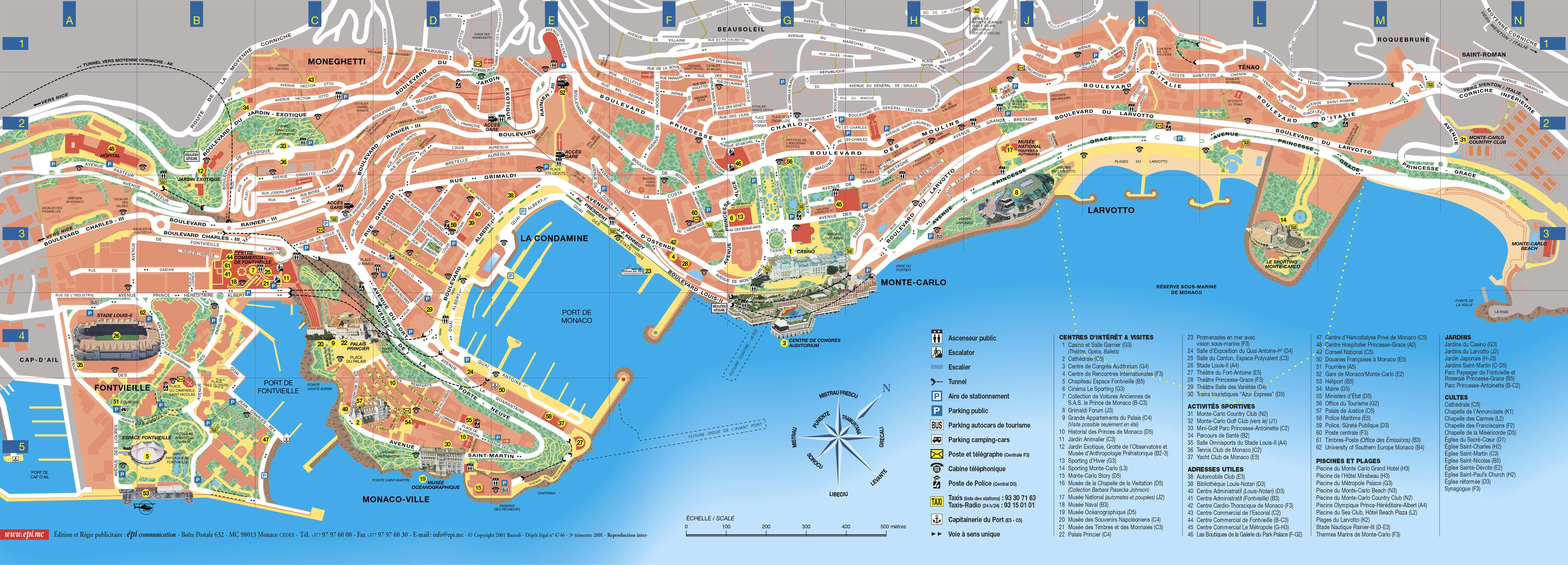 Map Monte Carlo Monaco Large Monte Carlo Maps for Free Download and Print | High