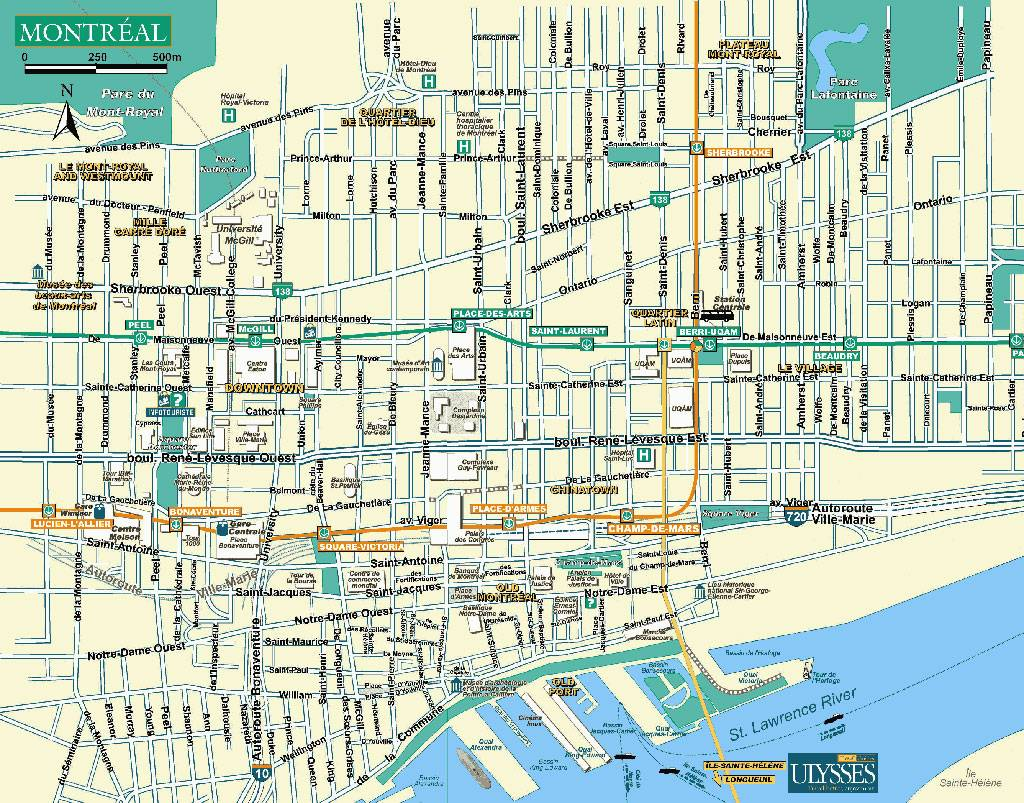 Large Montreal Maps for Free Download and Print HighResolution