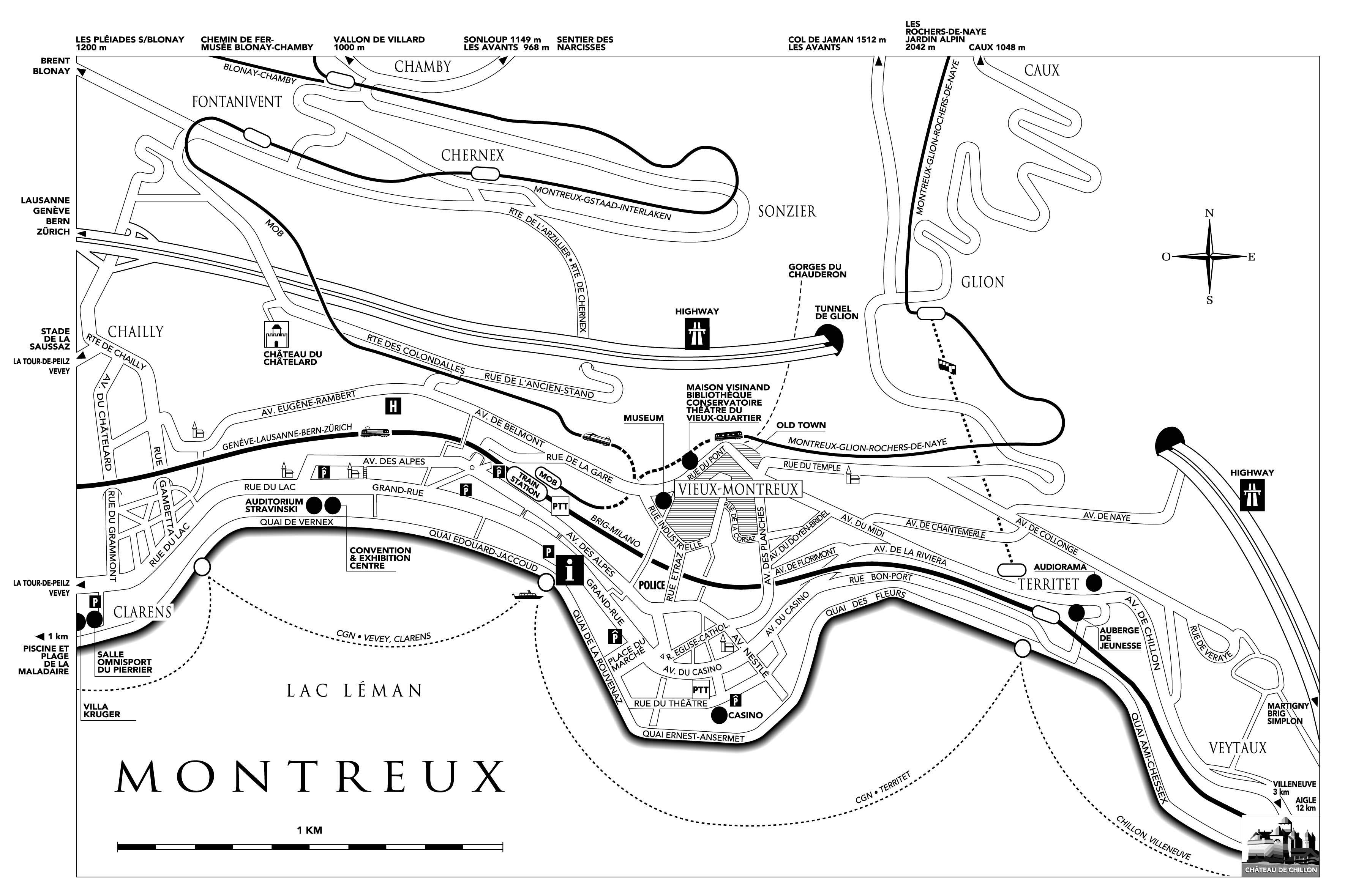 Large Montreux Maps for Free Download and Print HighResolution