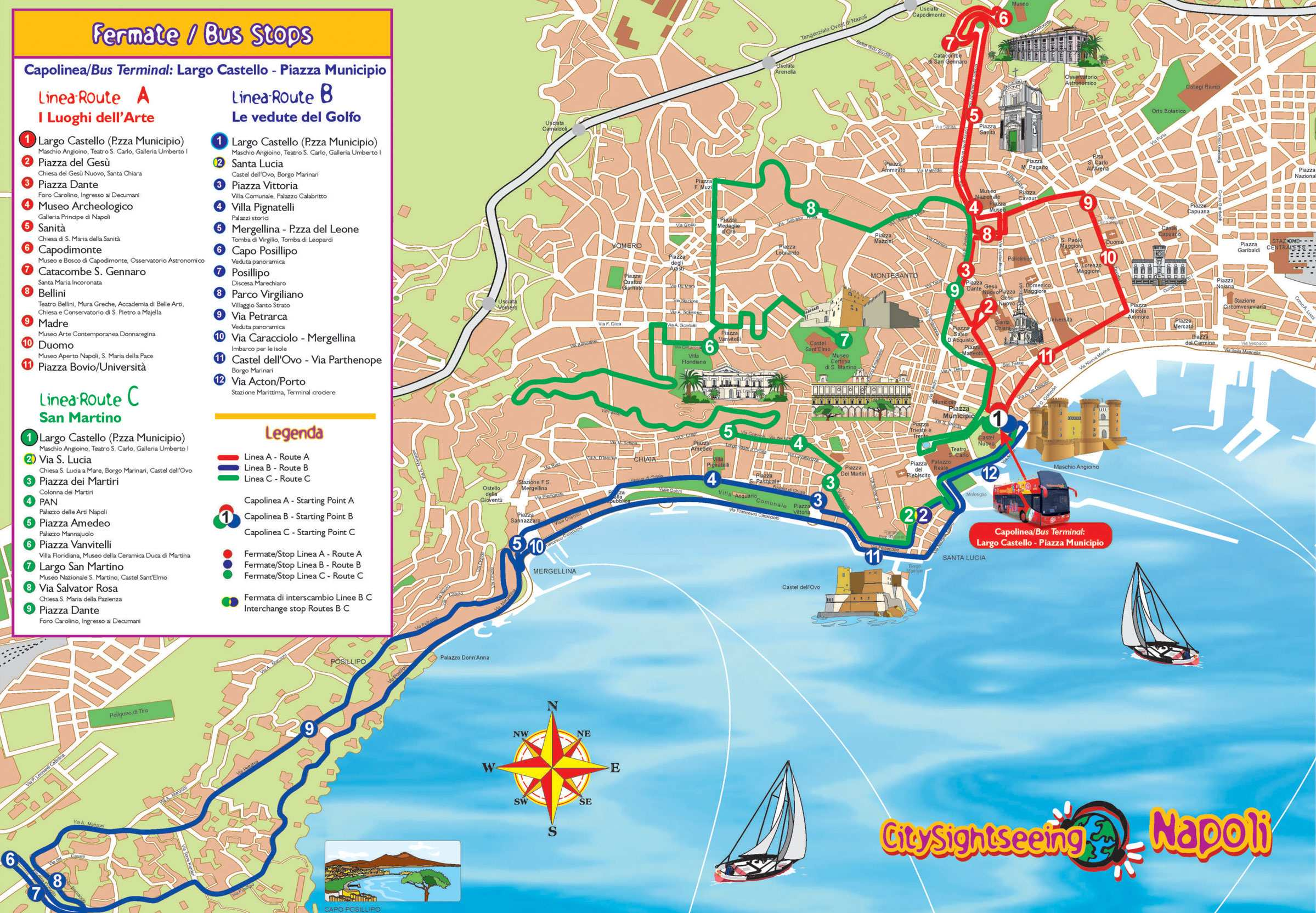 Large Naples Maps for Free Download and Print | High-Resolution and ...