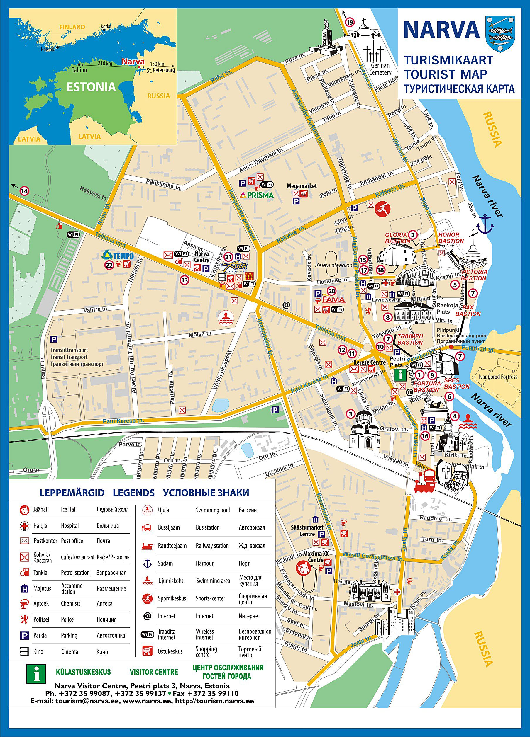 Narva Estonia Map Large Narva Maps for Free Download and Print | High Resolution and