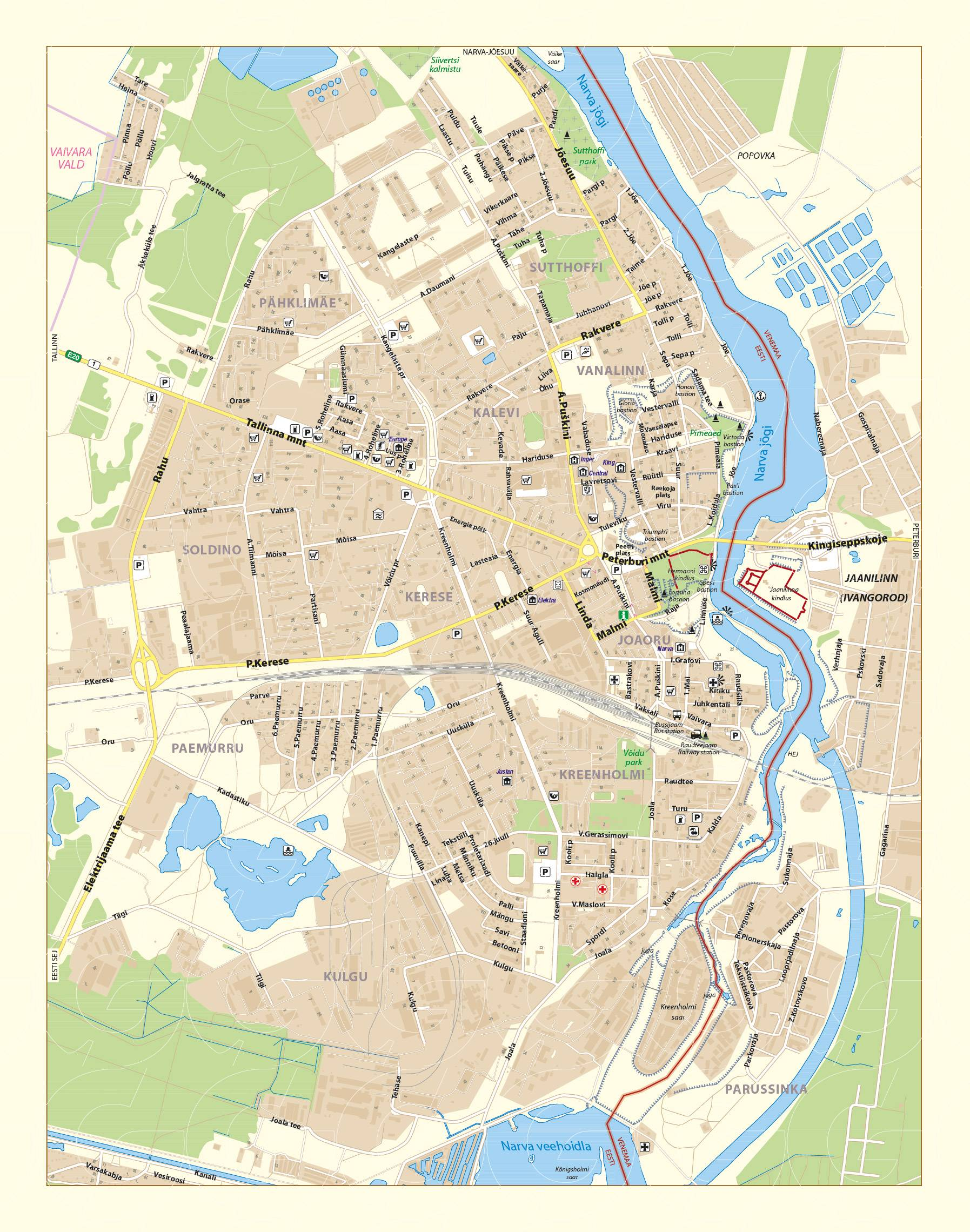 Large Narva Maps for Free Download and Print HighResolution and