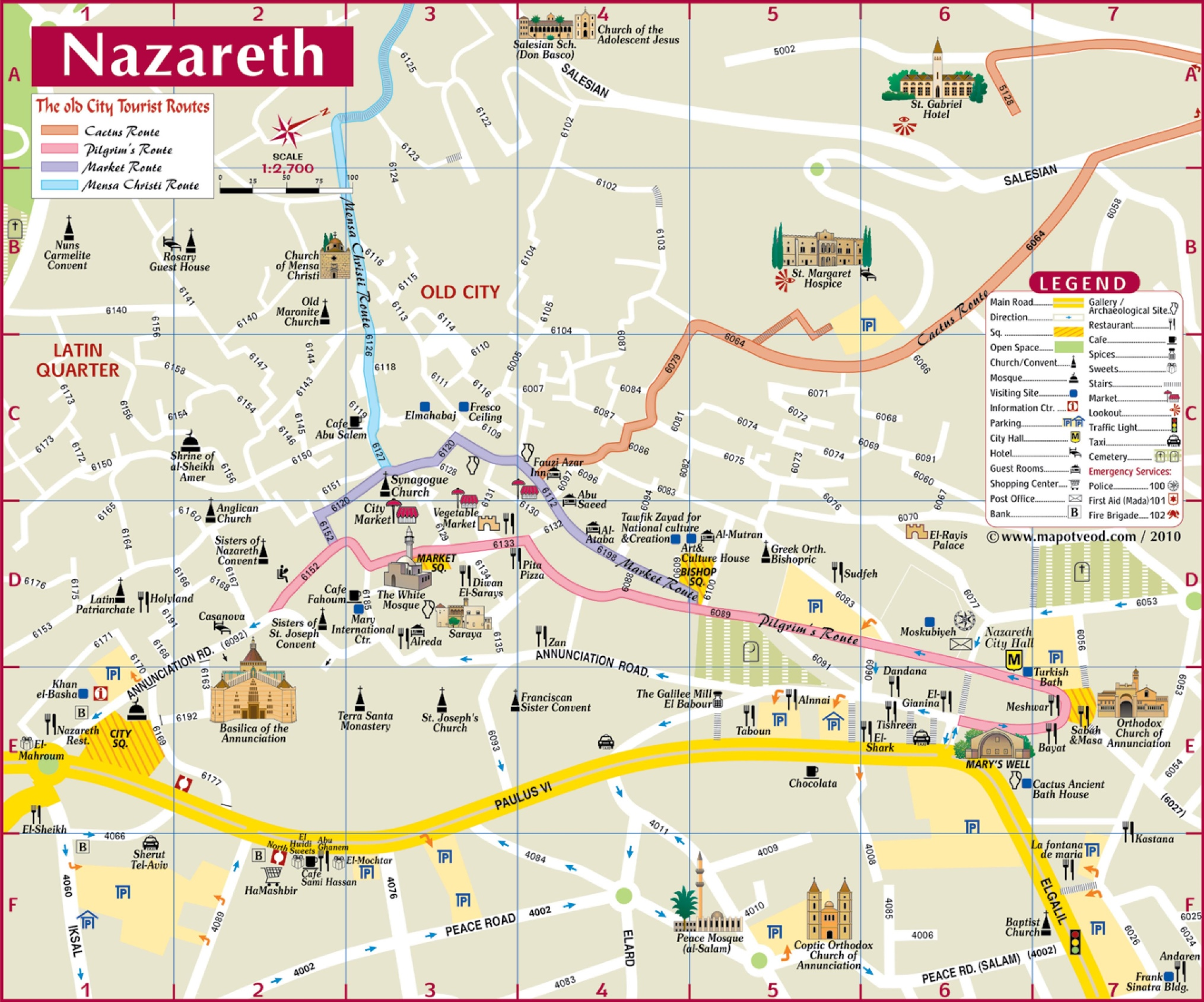 Large Nazareth Maps for Free Download and Print HighResolution