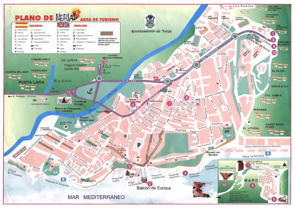 Map Of Nerja Large Nerja Maps for Free Download and Print | High Resolution and  Map Of Nerja