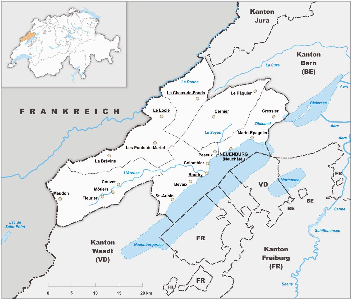 Large Neuchatel Maps for Free Download and Print HighResolution