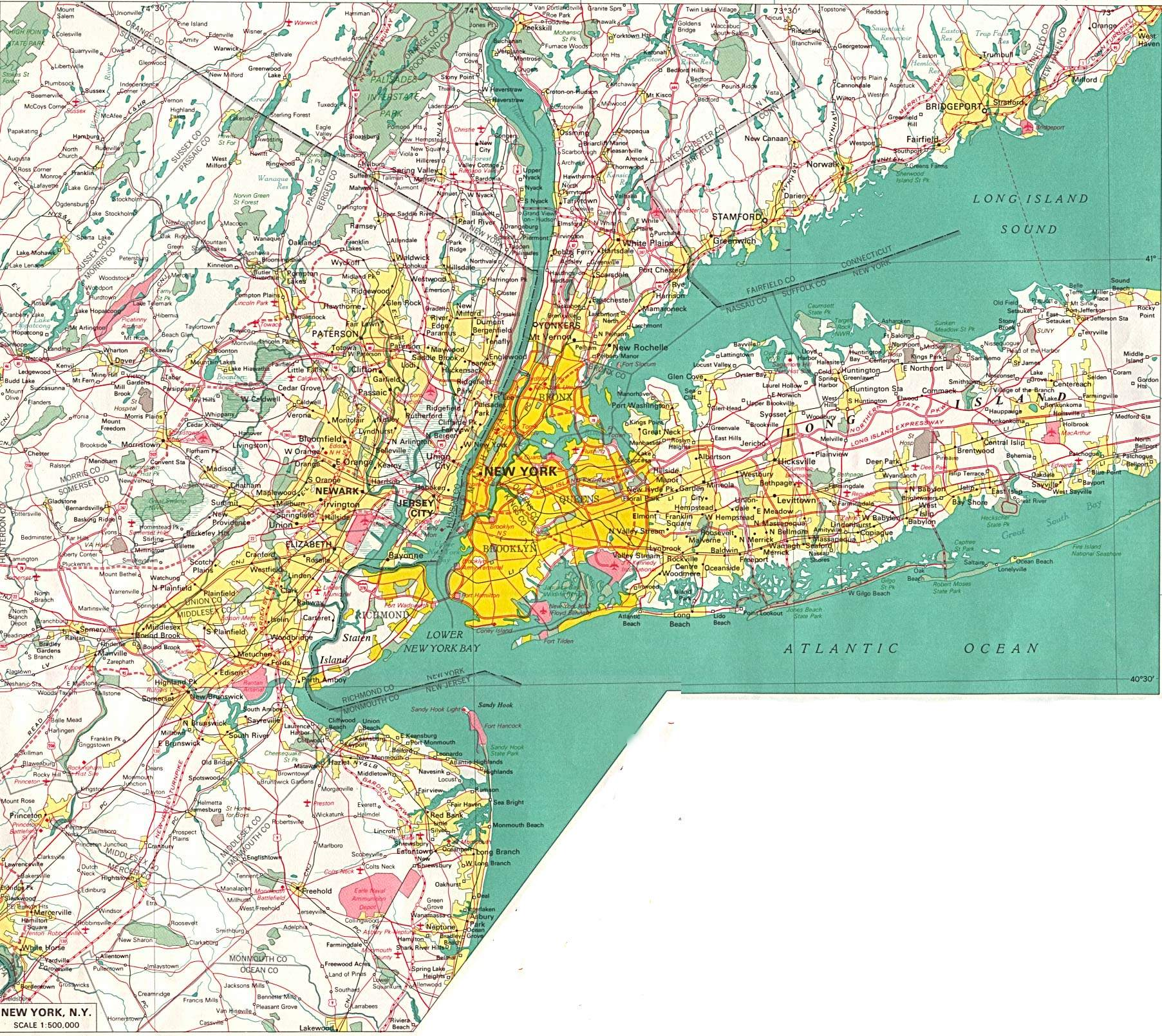 large map of new york 1