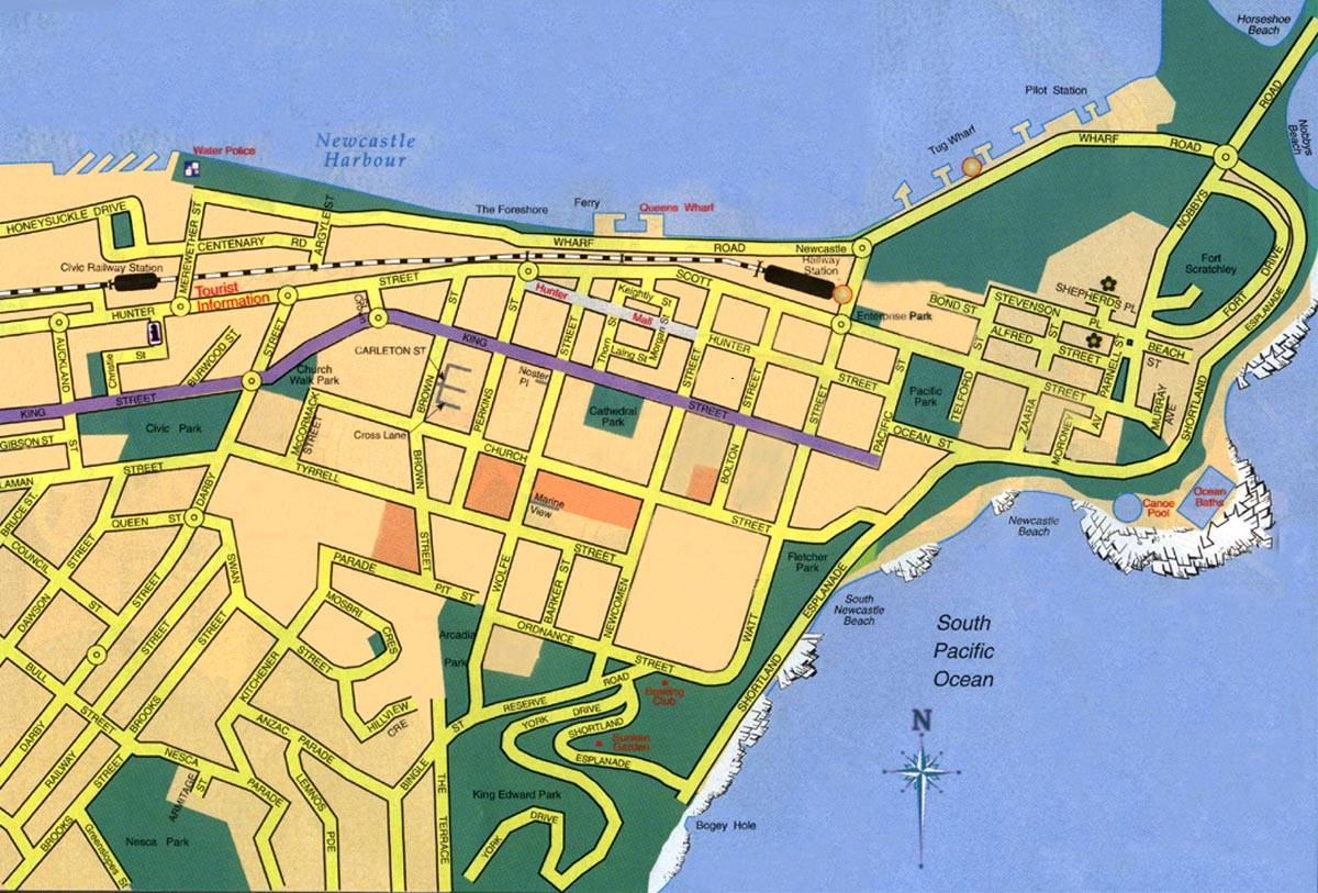 Large Newcastle Maps for Free Download and Print HighResolution