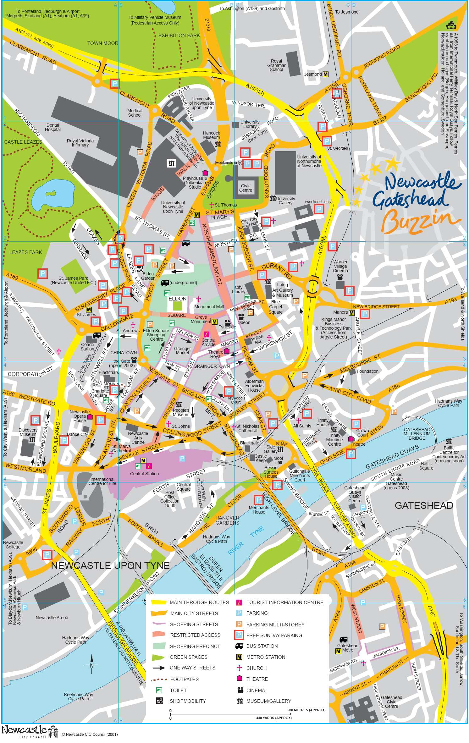 Map Of Uk Newcastle.Large Newcastle Maps For Free Download And Print High Resolution