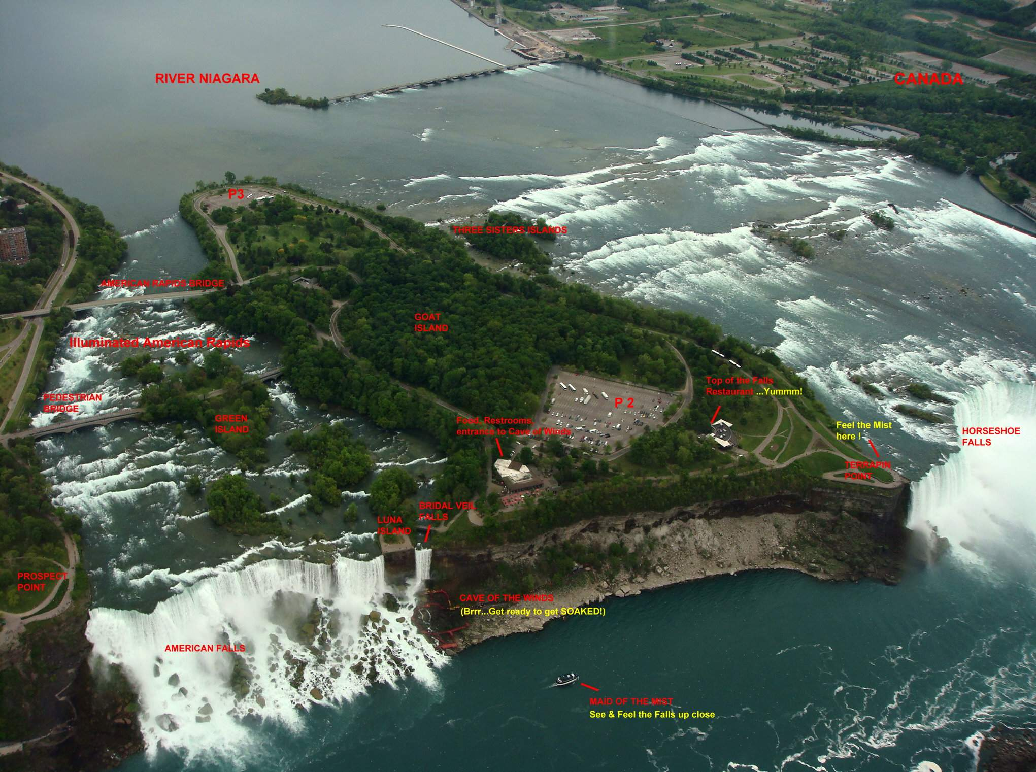 Large Niagara Falls Maps For Free Download And Print High Resolution And Detailed Maps