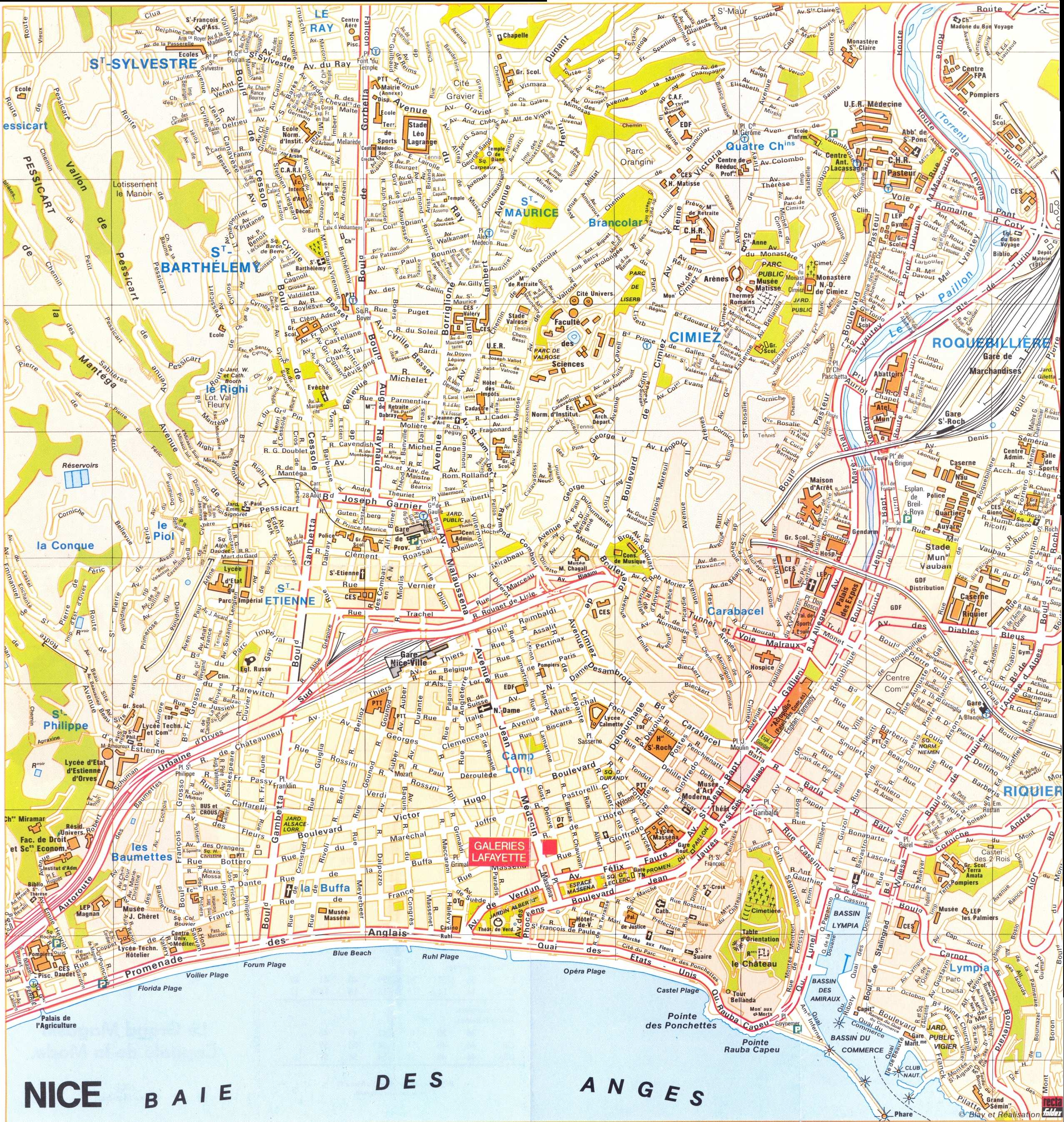 Nice Map Detailed City and Metro Maps of Nice for Download
