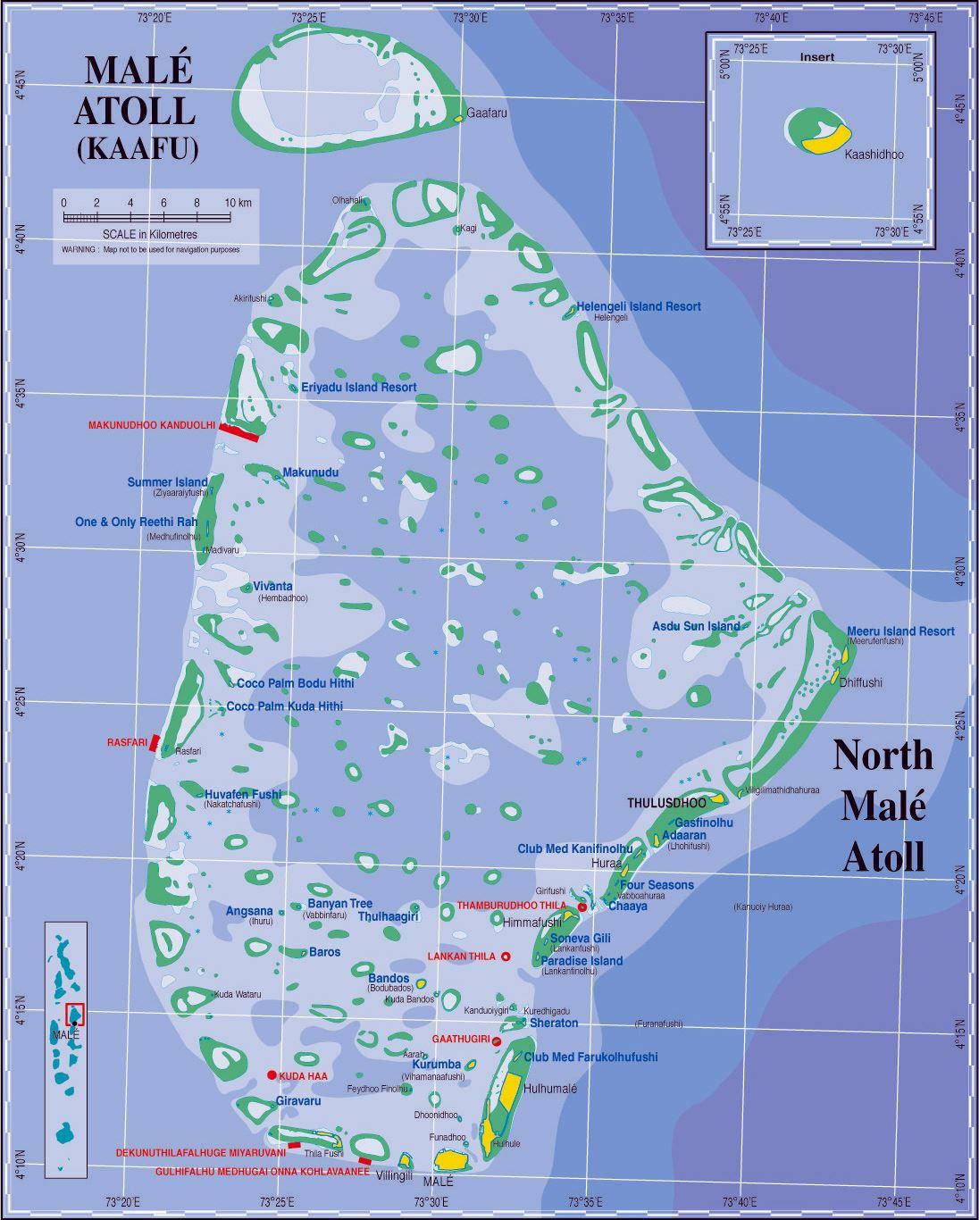 Interactive Map Of Maldives