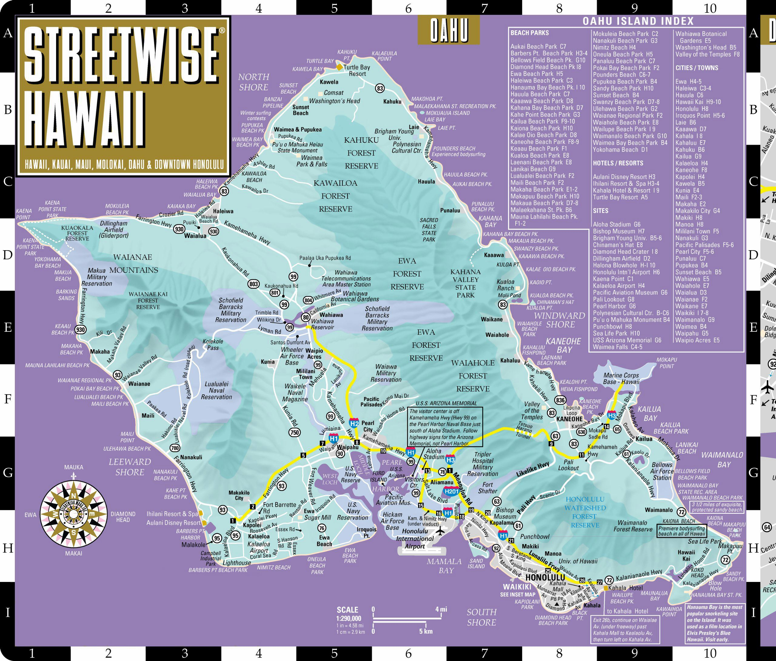 picture about Oahu Map Printable titled High Oahu Island Maps for Free of charge Down load and Print Significant