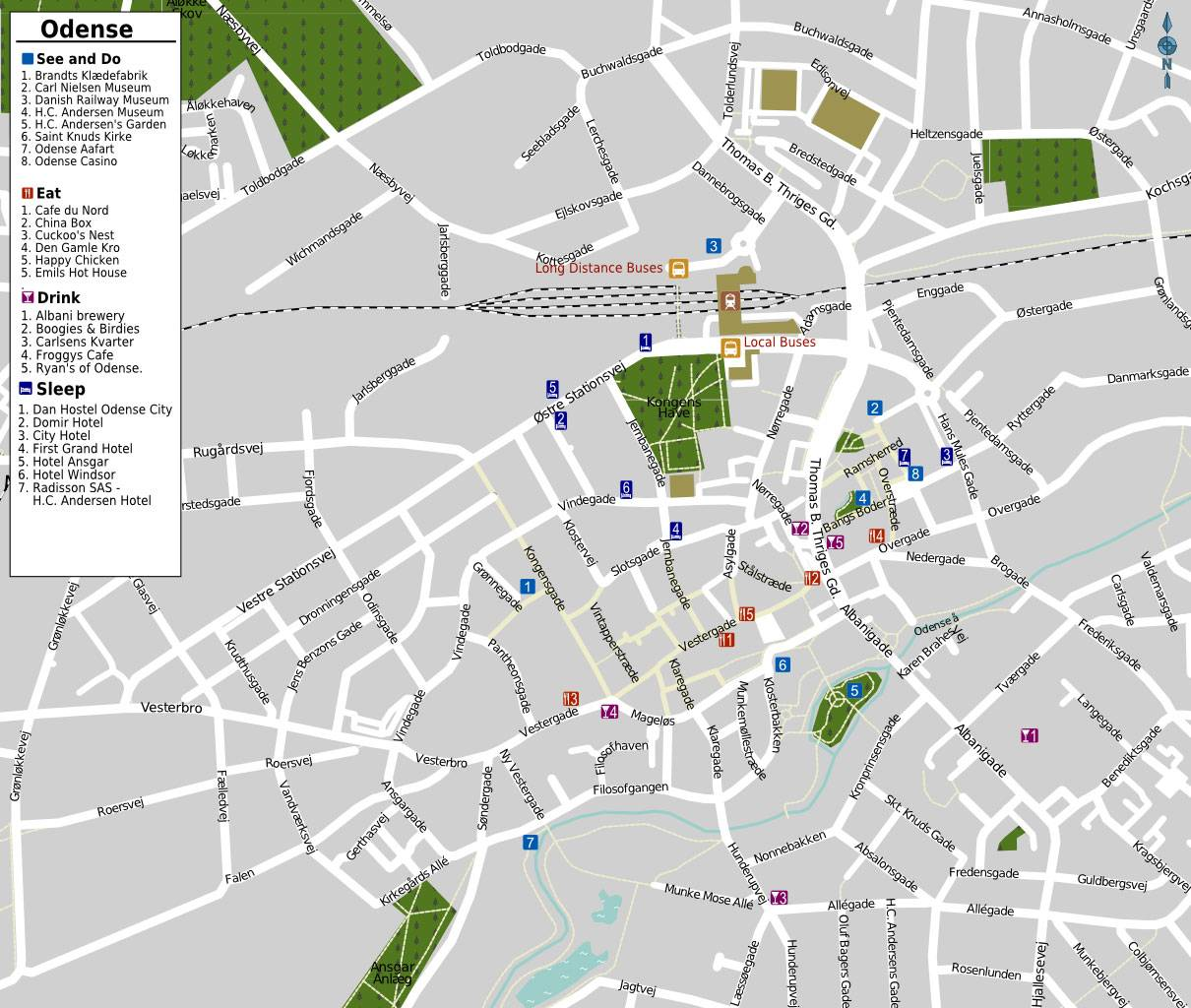 Large Odense Maps for Free Download | High-Resolution and Detailed ... ODENSE MAP