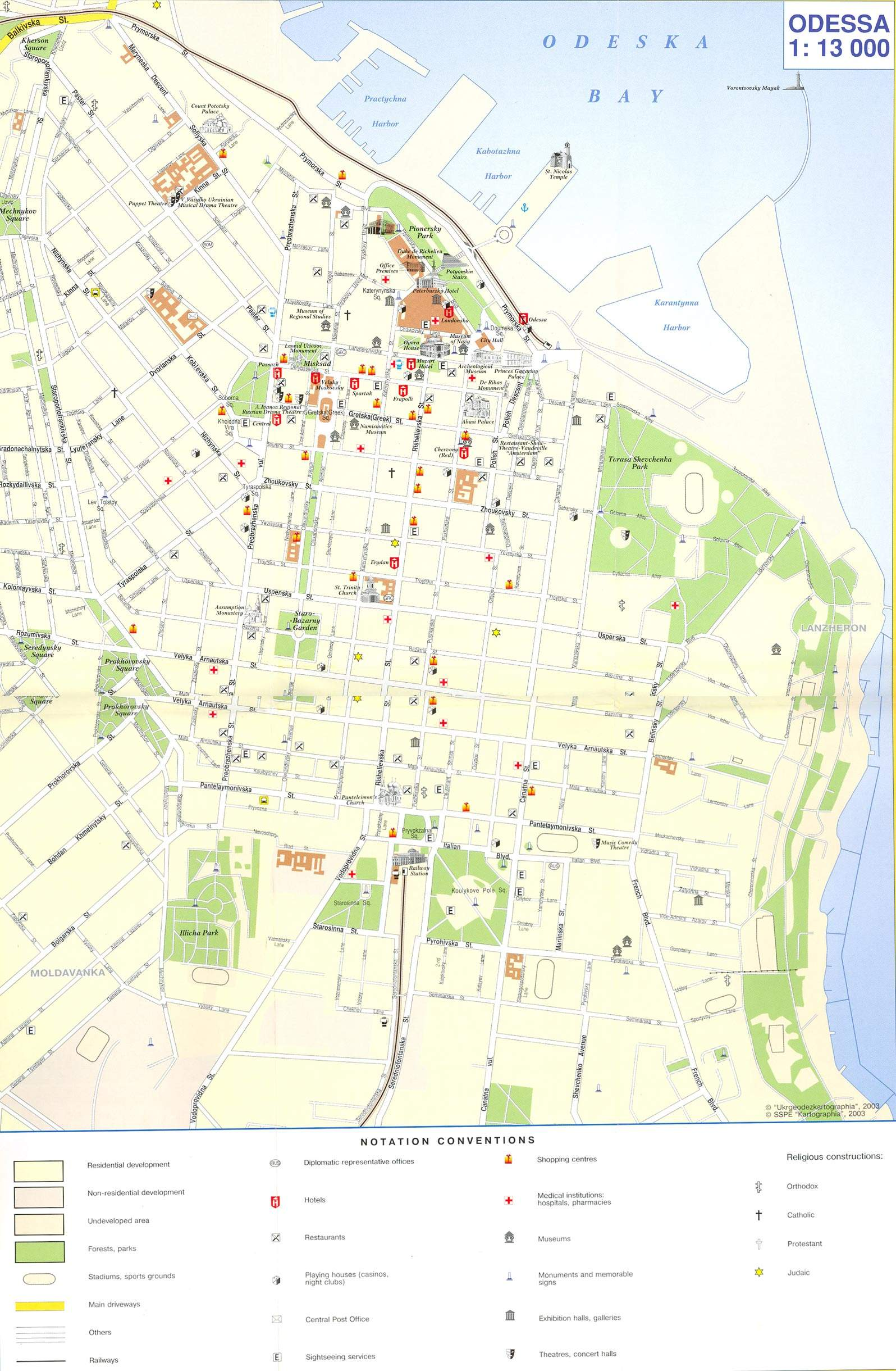 Large Odessa Maps for Free Download and Print HighResolution and