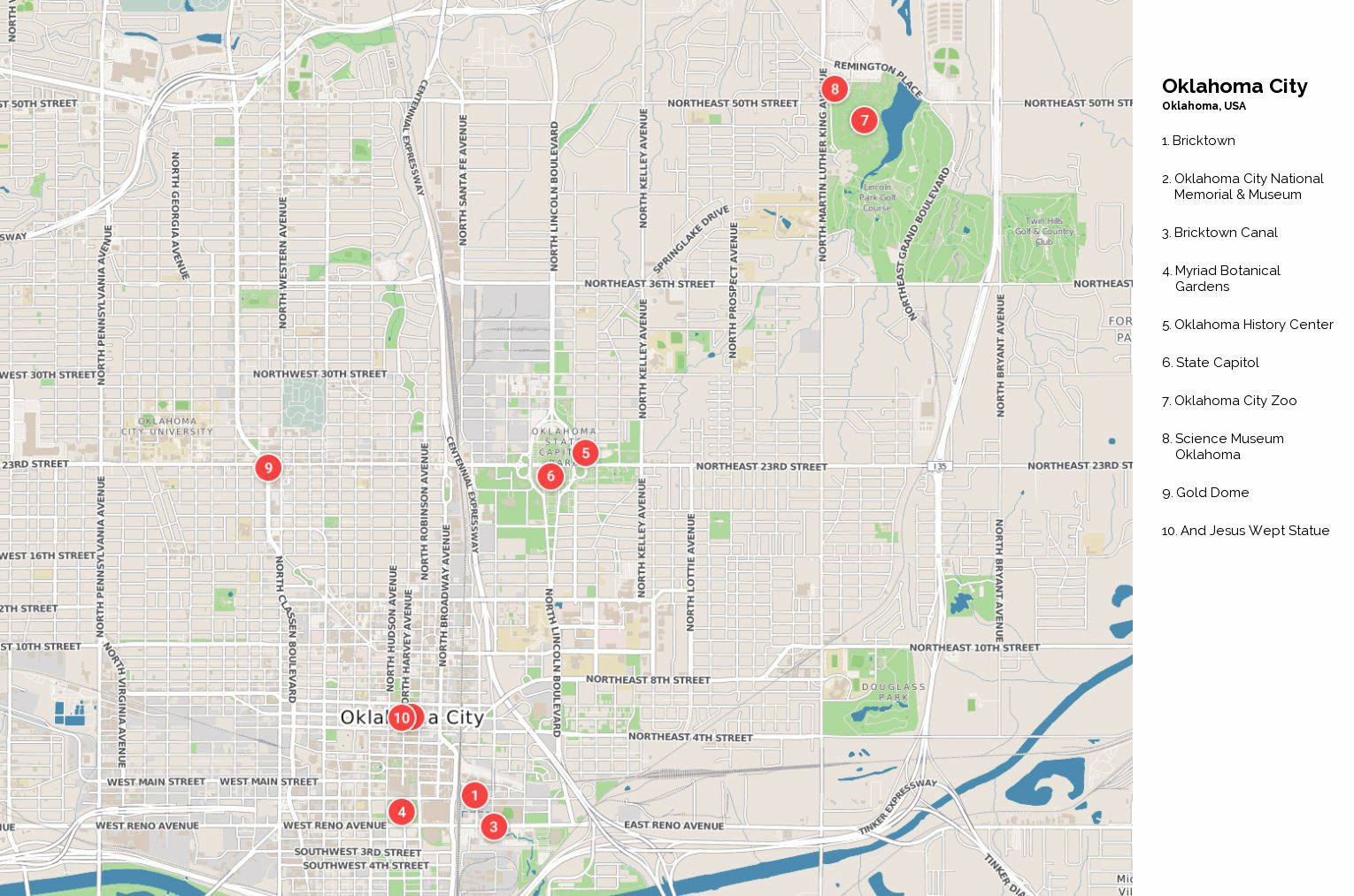 Large Oklahoma City Maps For Free Download And Print High - Oklahoma city map
