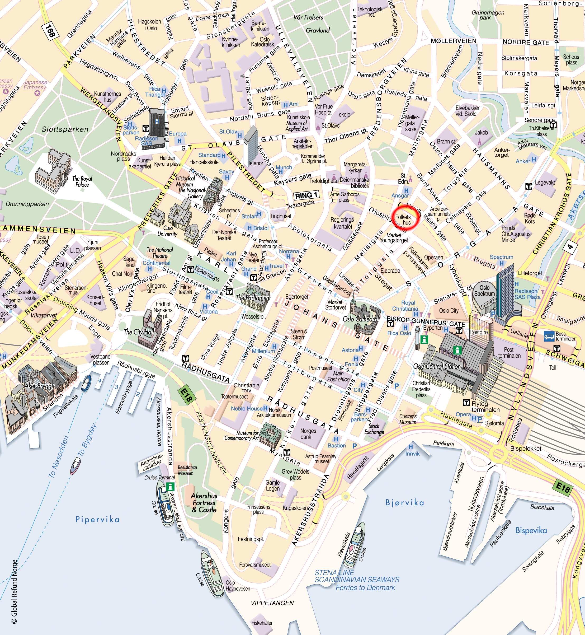 Large Oslo Maps For Free Download And Print High Resolution And