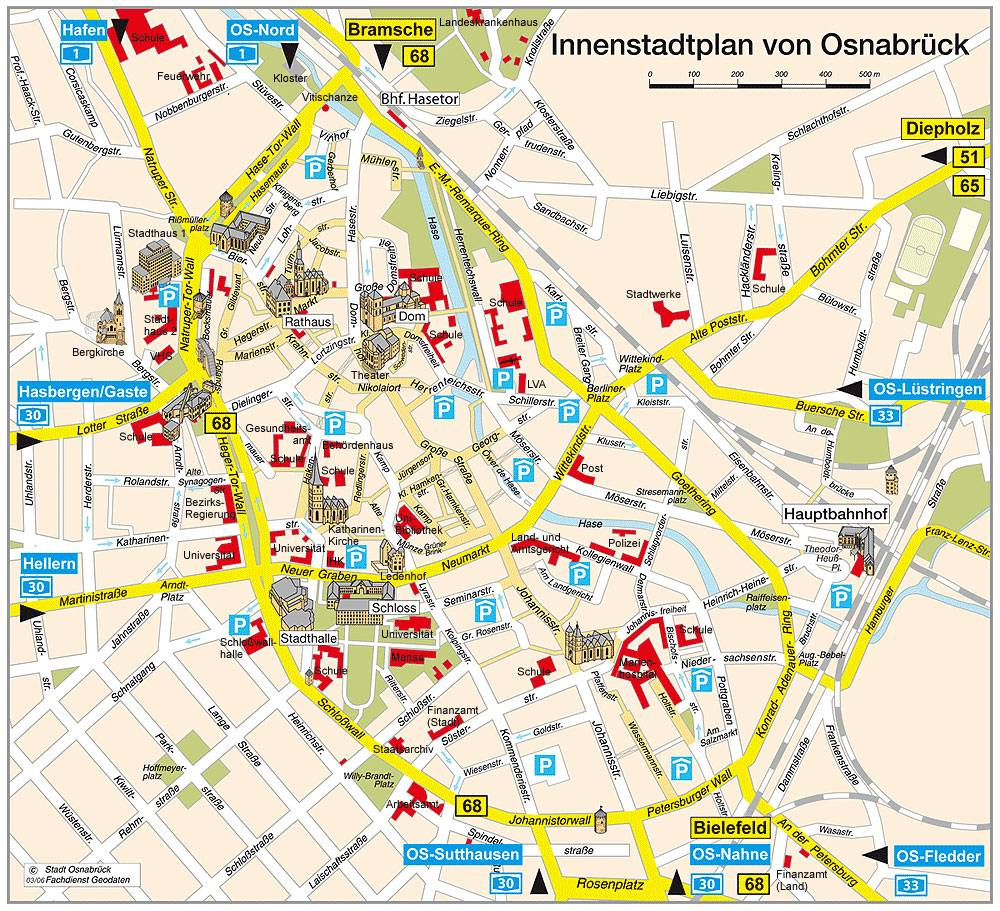 Large Osnabruck Maps for Free Download and Print HighResolution