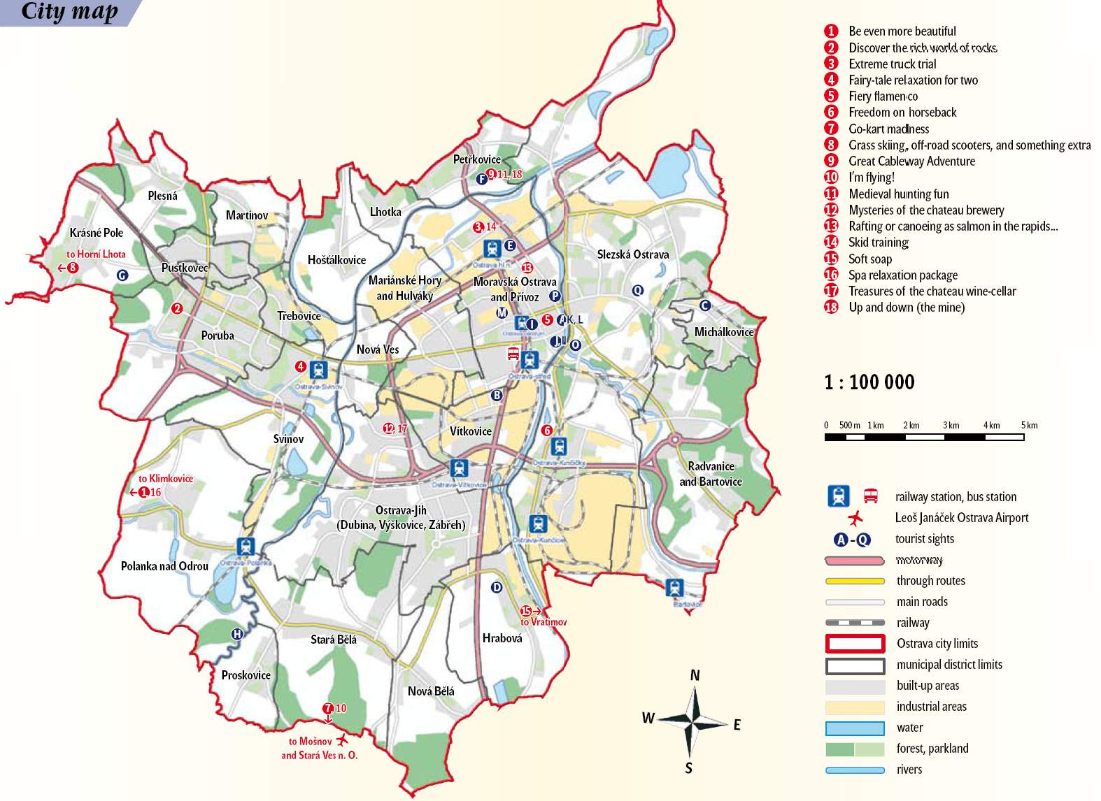 Large Ostrava Maps for Free Download and Print HighResolution and