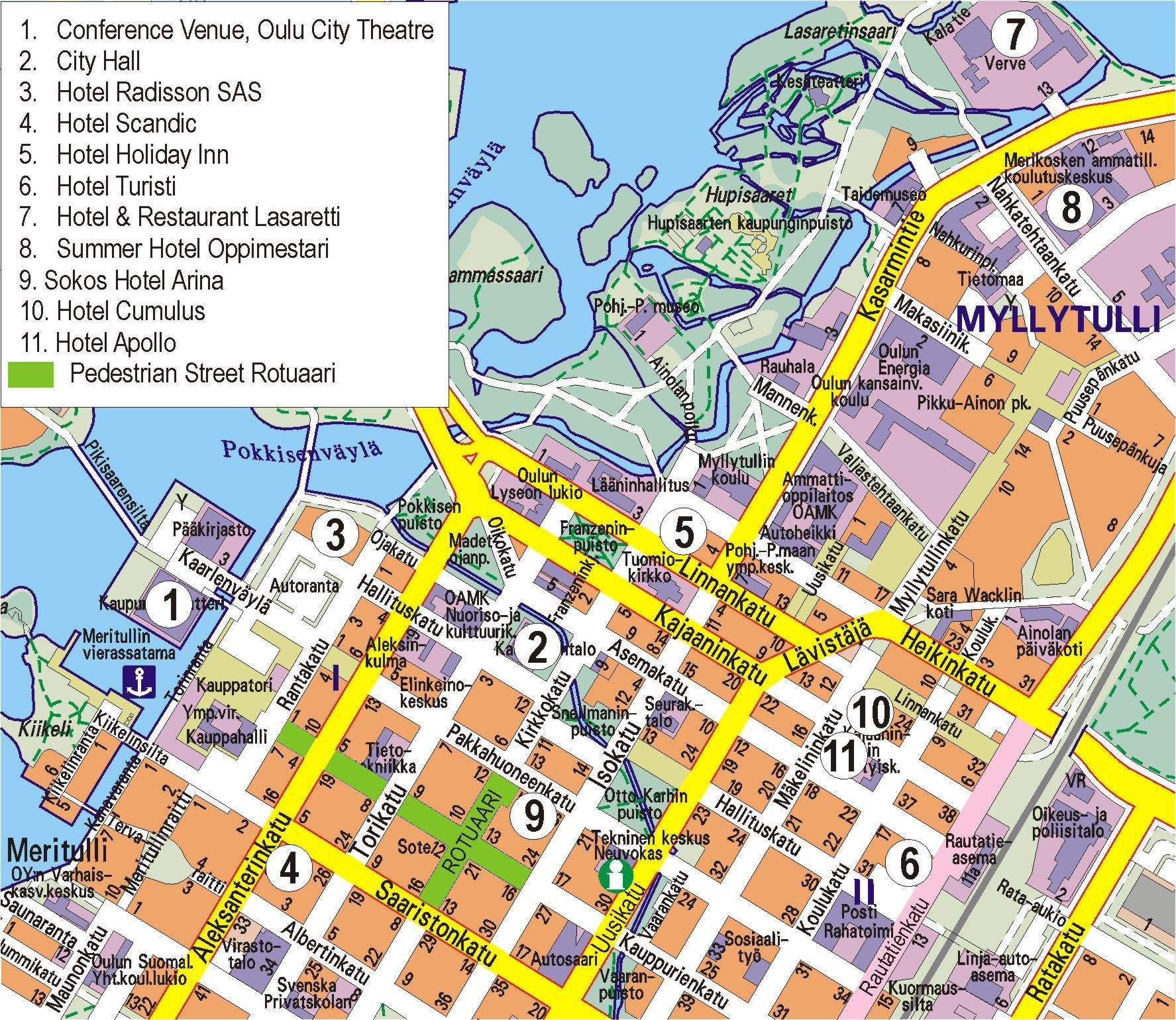 Large Oulu Maps for Free Download and Print HighResolution and