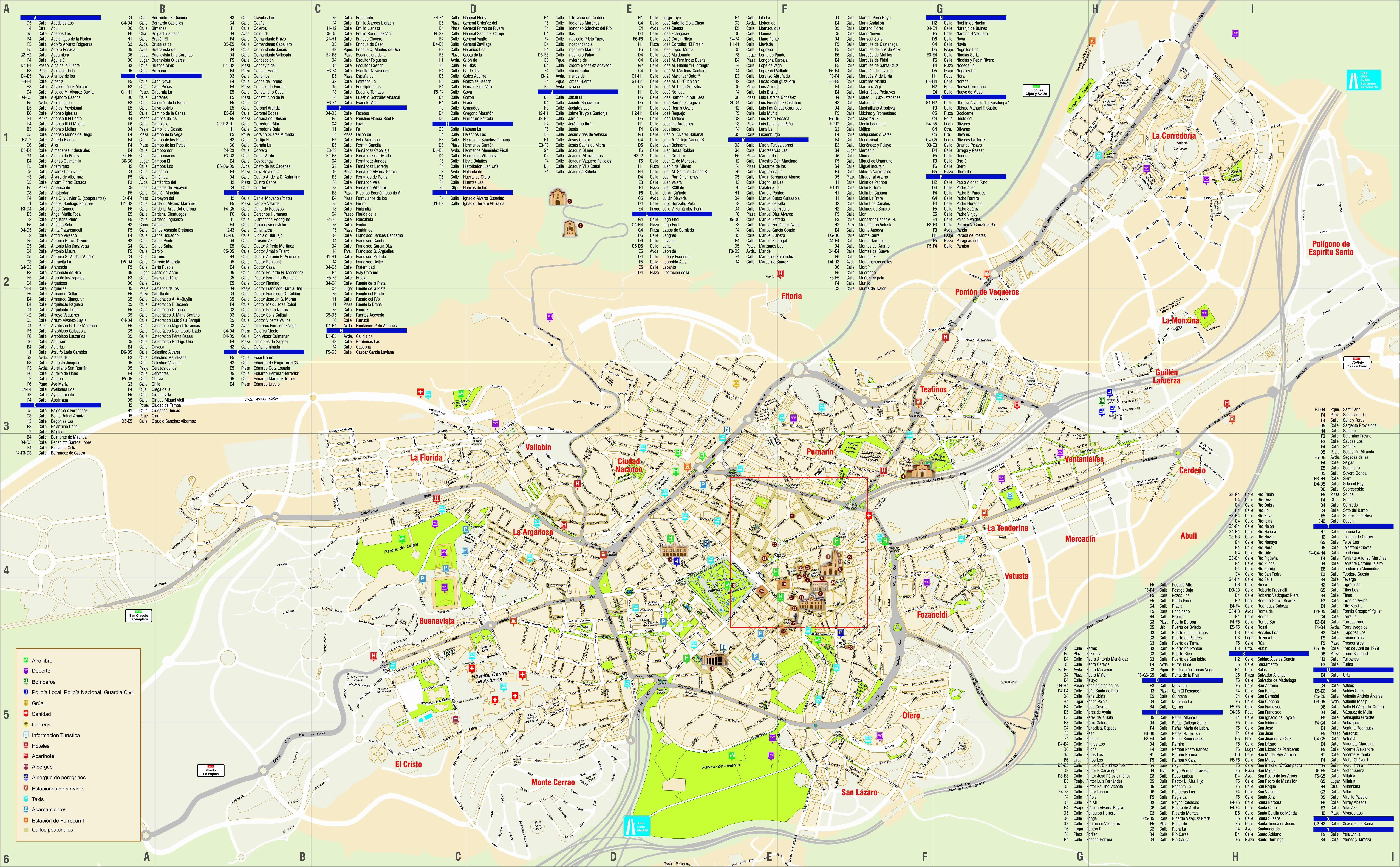 Large Oviedo Maps for Free Download and Print HighResolution and