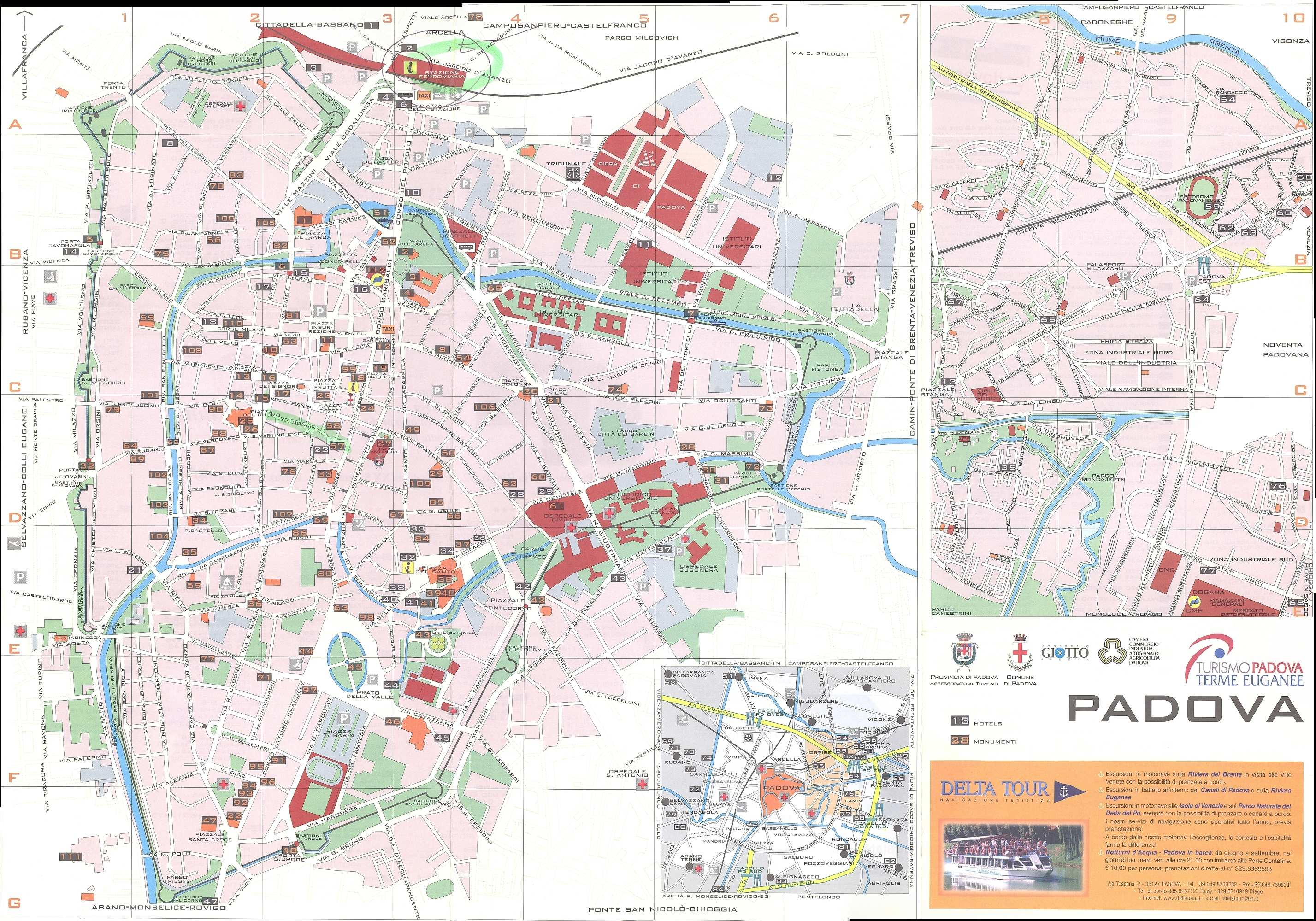Large Padua Maps for Free Download and Print HighResolution and