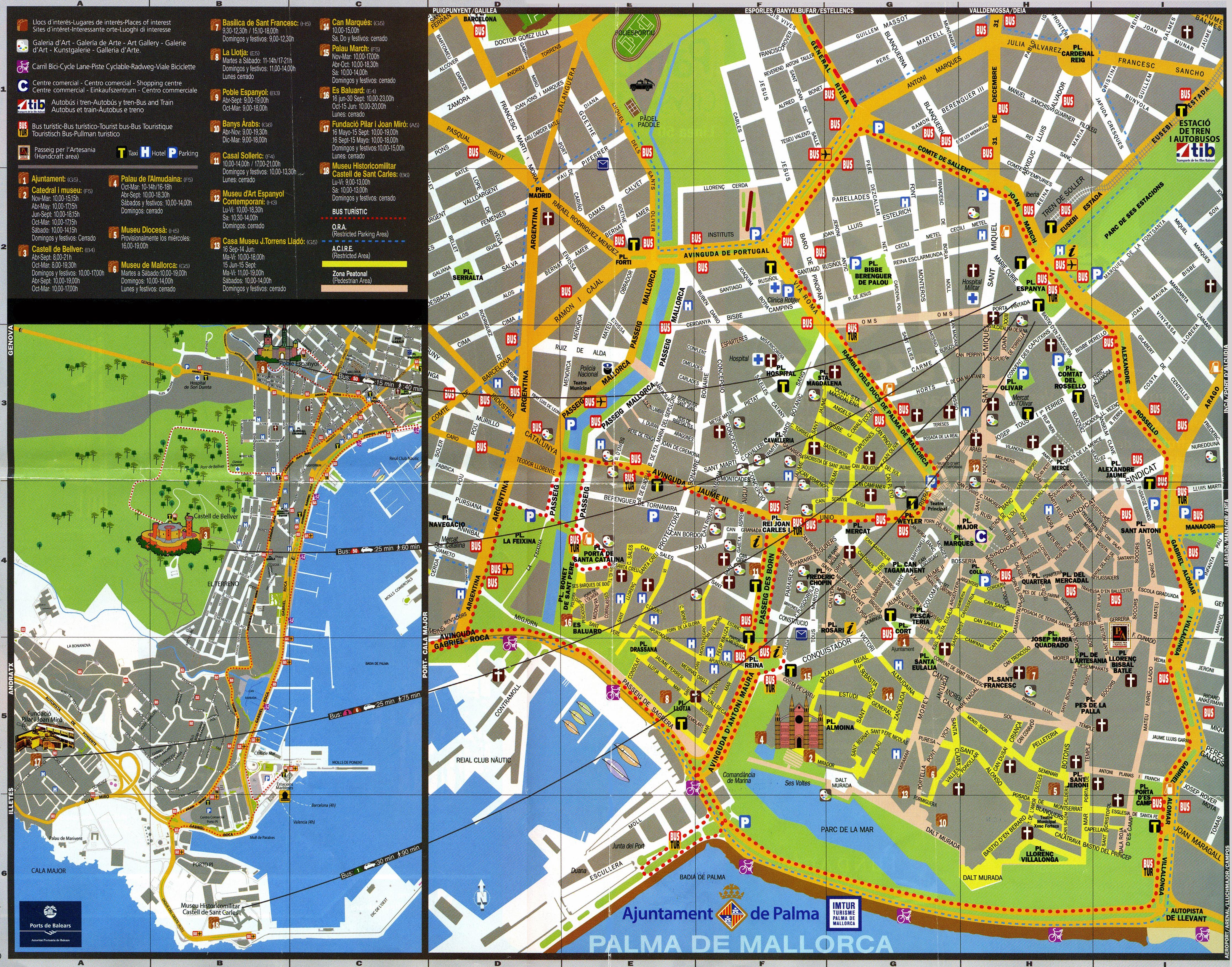 ver mapa de palma de maiorca Mapas Detallados de Palma de Mallorca para Descargar Gratis e Imprimir ver mapa de palma de maiorca